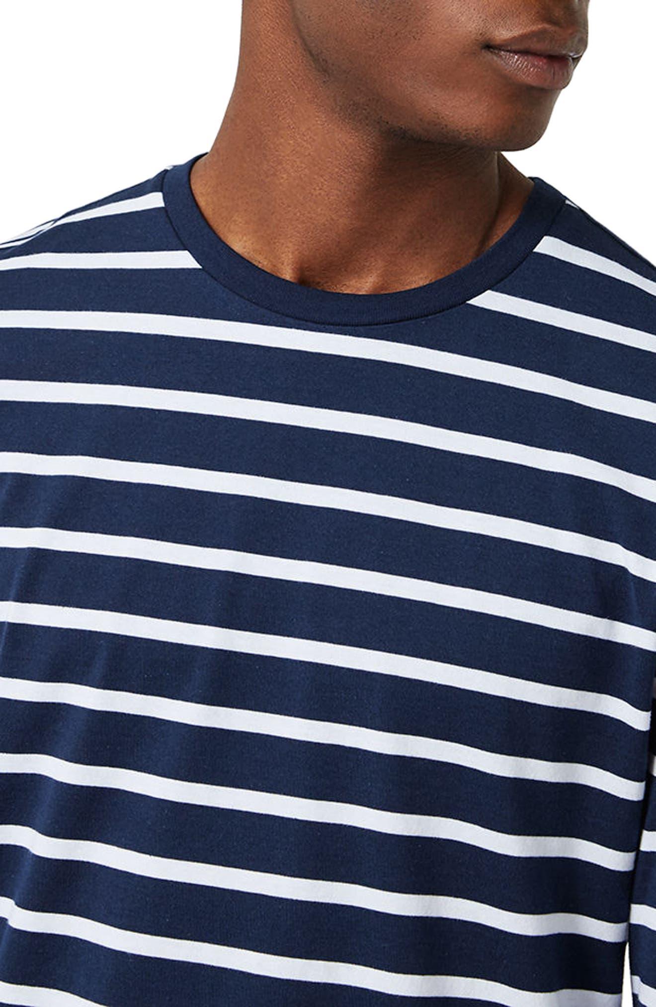 Stripe Slim Fit Long Sleeve T-Shirt,                             Alternate thumbnail 3, color,                             401