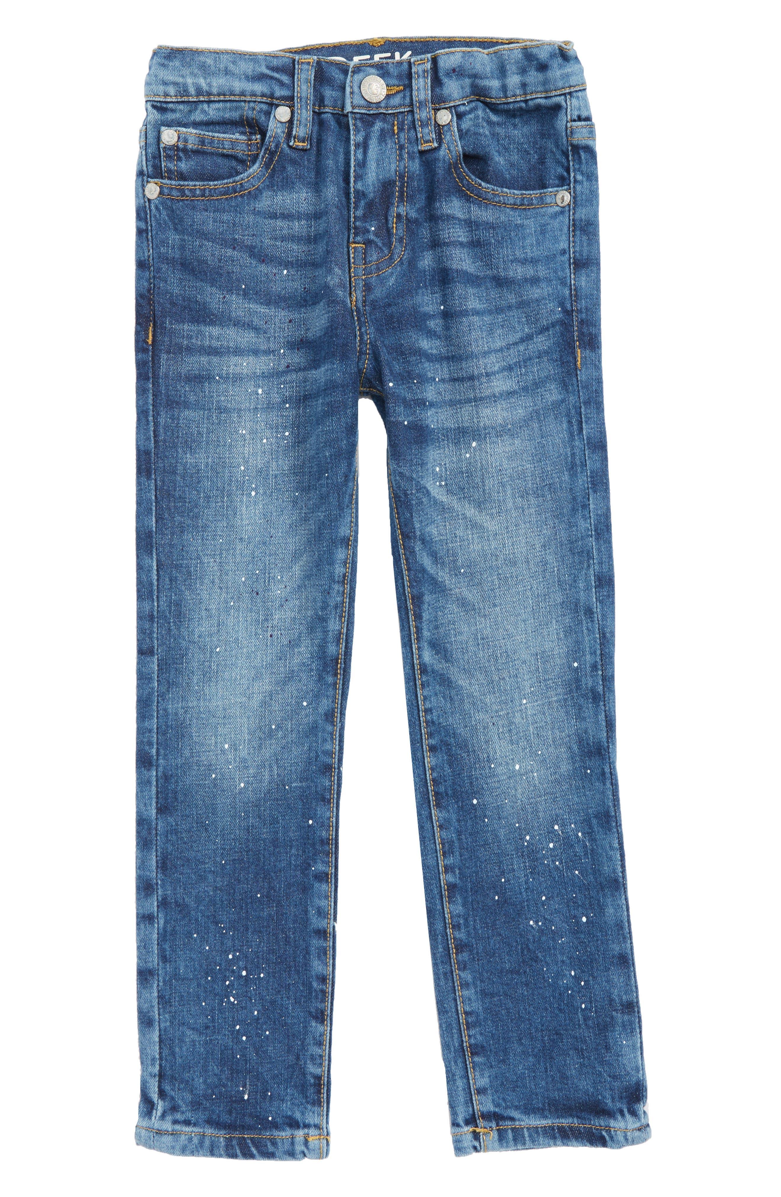 Paint Splatter Straight Leg Jeans,                         Main,                         color, 400