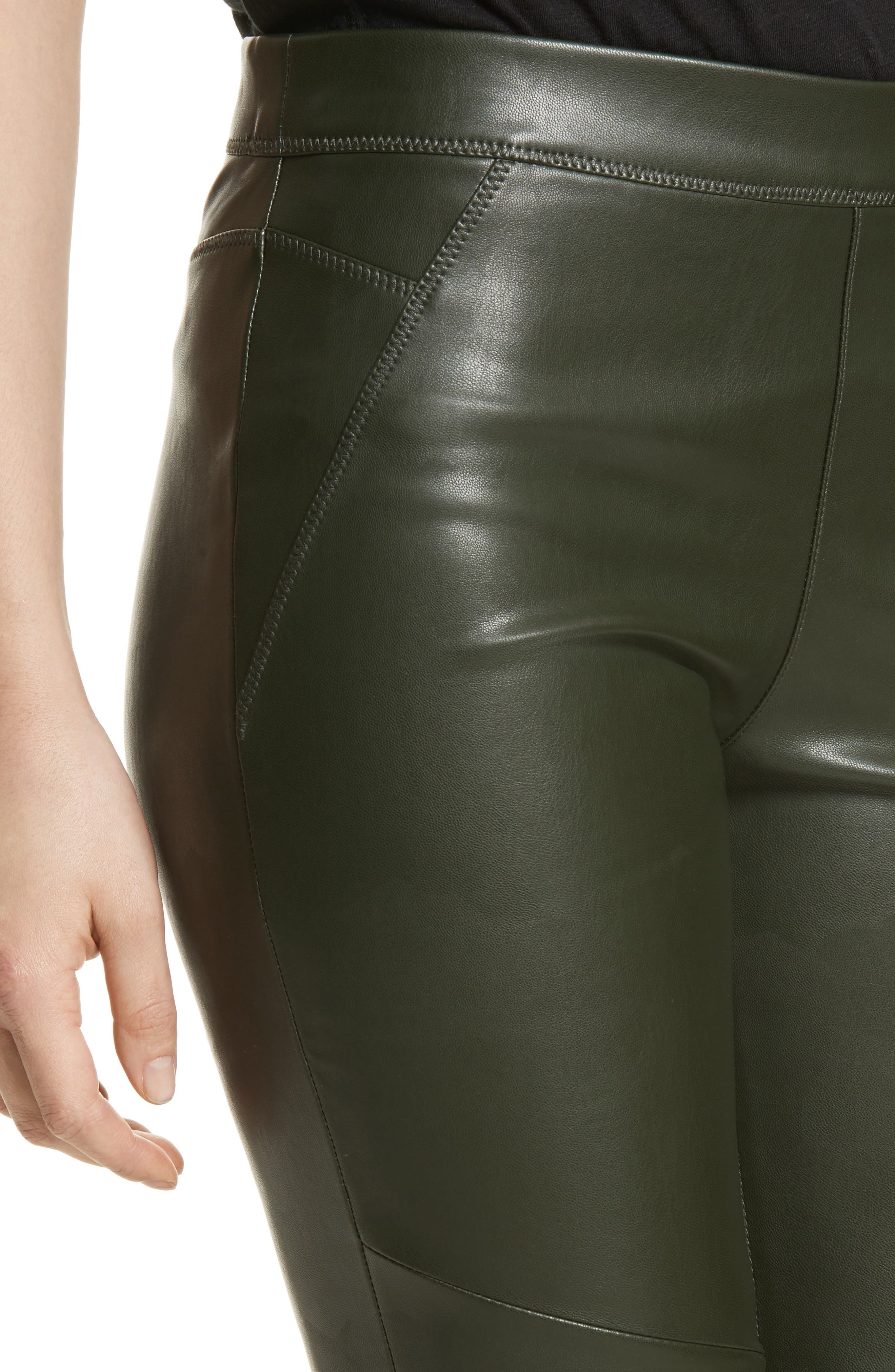 Faux Leather Leggings,                             Alternate thumbnail 4, color,                             303