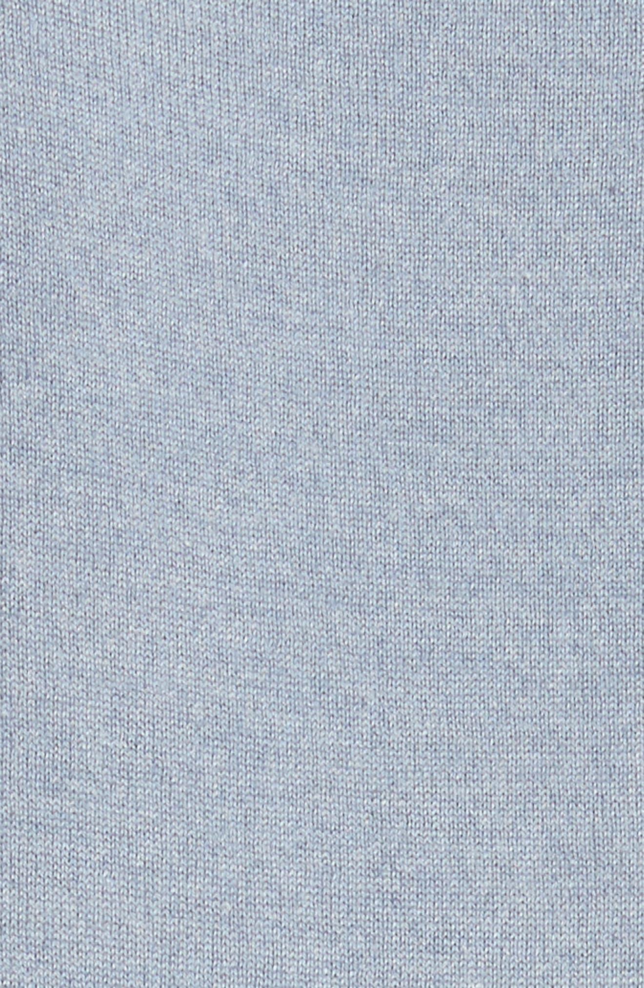 V-Neck Cashmere & Silk Knit Dress,                             Alternate thumbnail 5, color,                             411