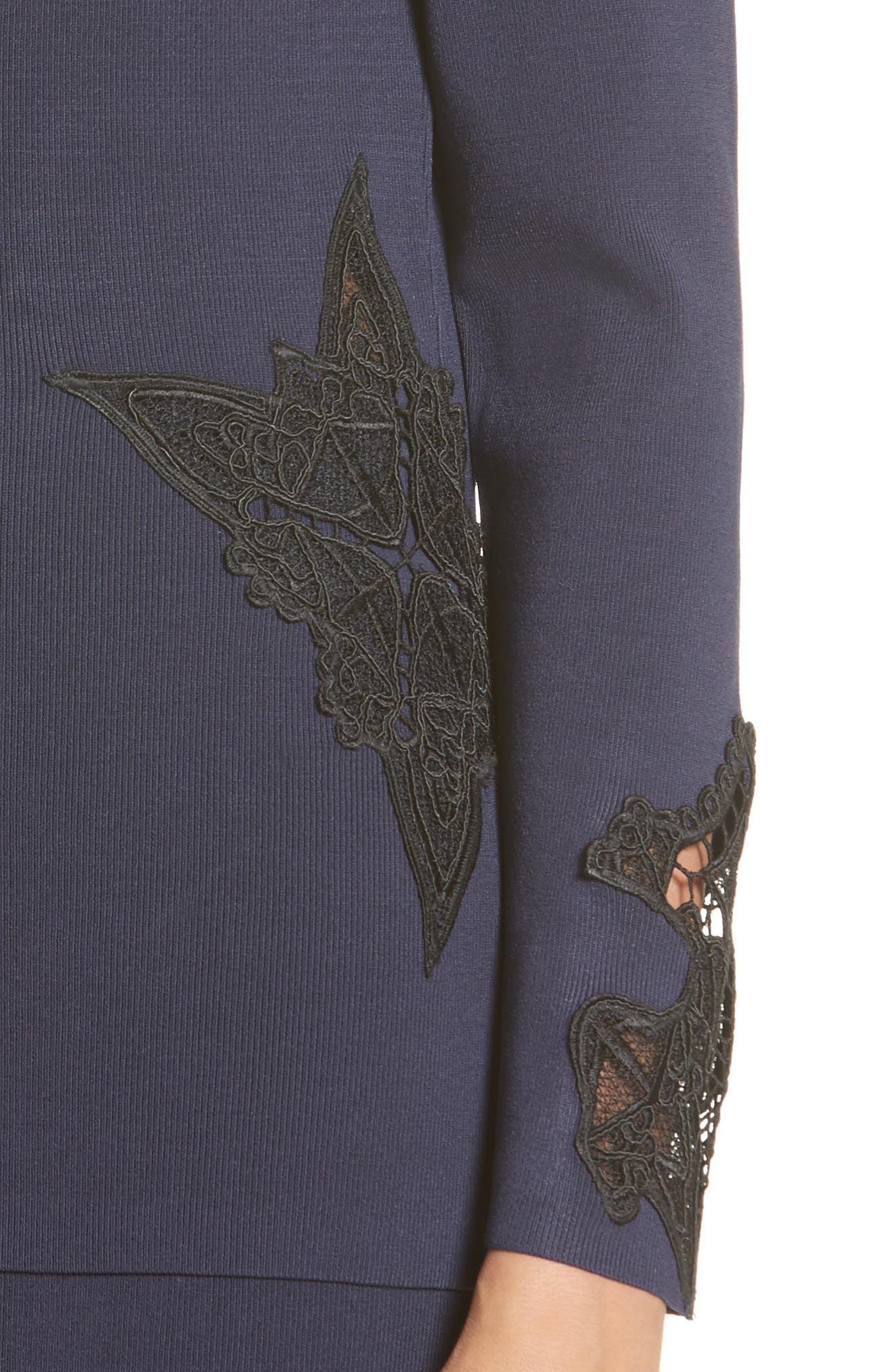 Lace Appliqué Off the Shoulder Top,                             Alternate thumbnail 4, color,                             410