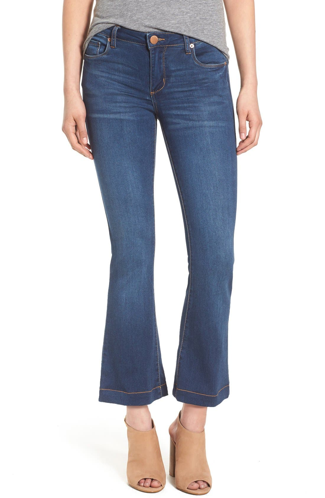 Crop Flare Jeans,                             Main thumbnail 1, color,                             400