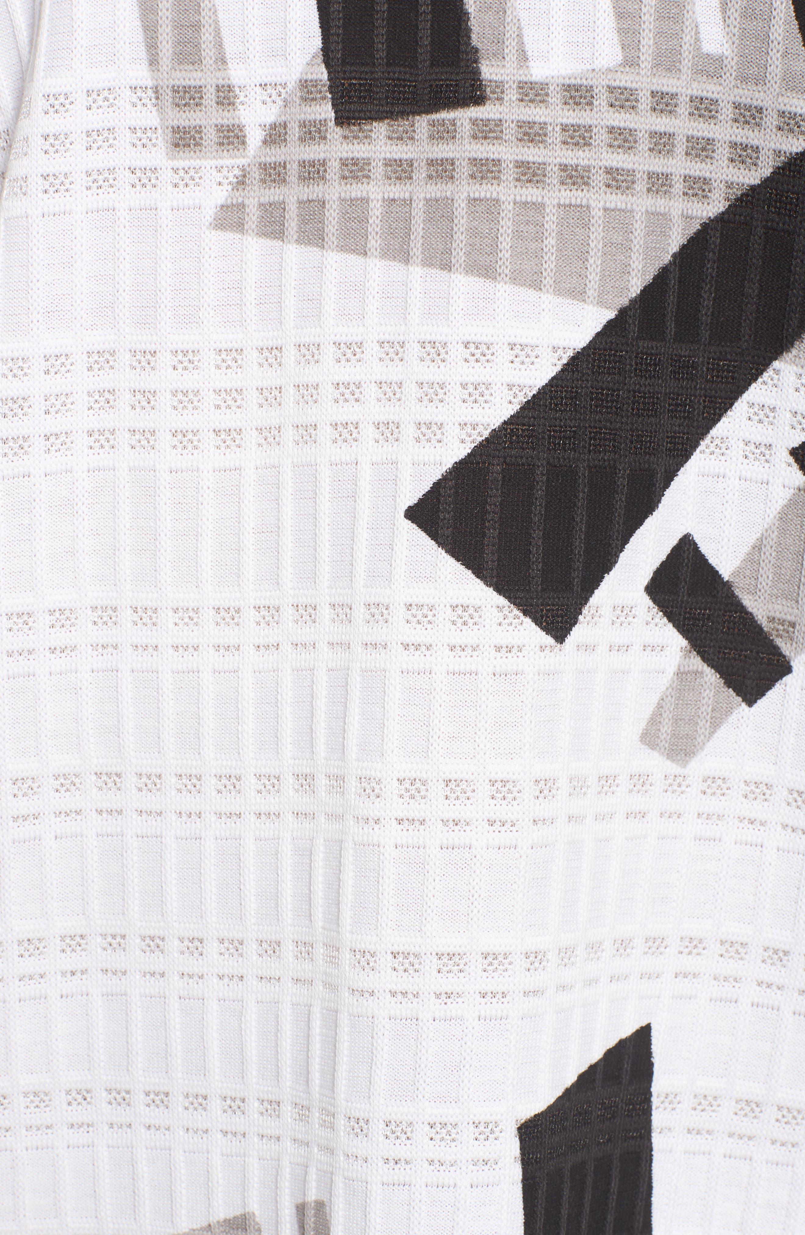 Geometric Jacquard Tunic Dress,                             Alternate thumbnail 6, color,                             251
