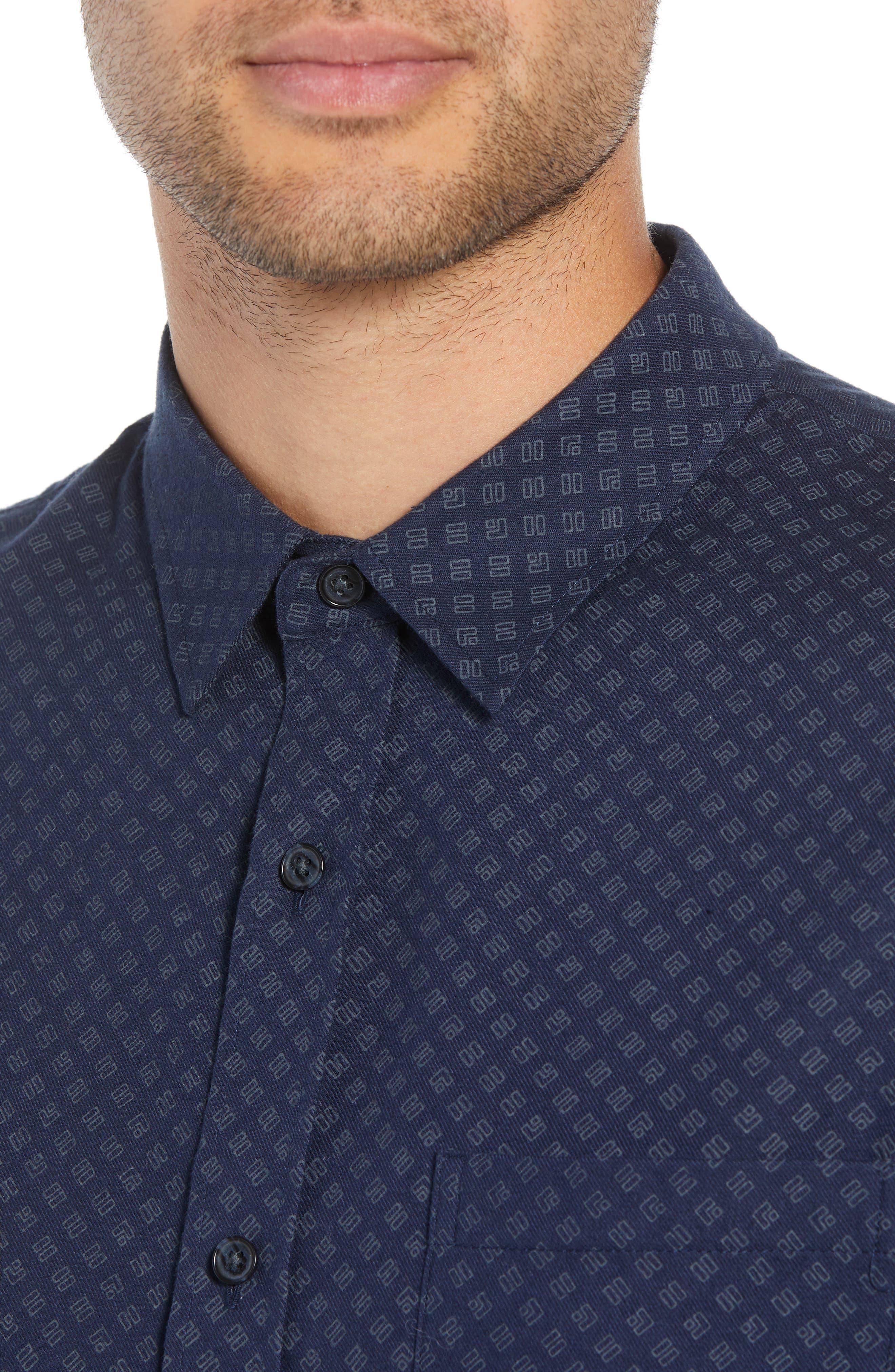 Classic Fit Square Print Sport Shirt,                             Alternate thumbnail 2, color,                             COASTAL