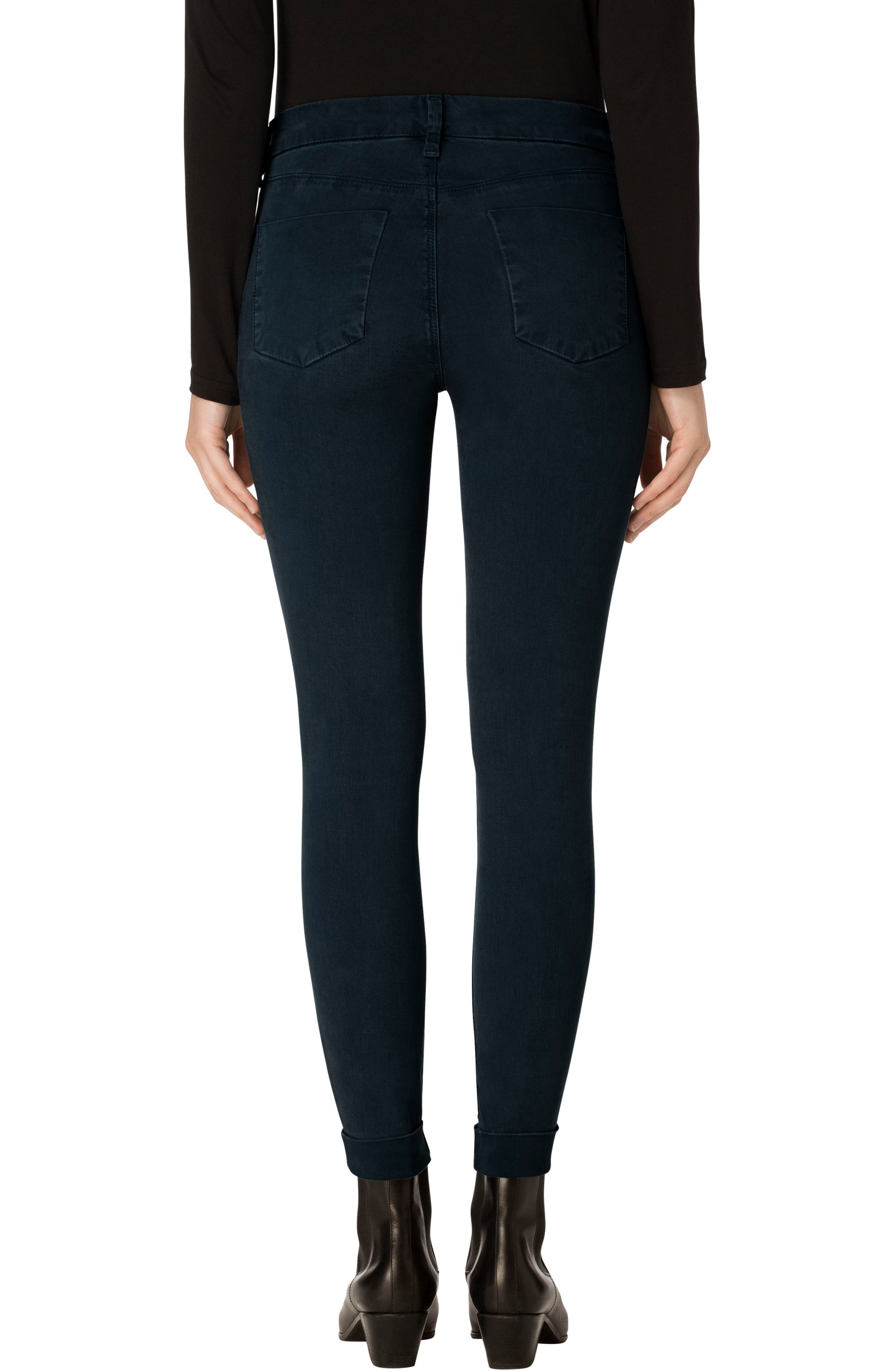 'Anja' Cuffed Crop Skinny Jeans,                             Alternate thumbnail 9, color,