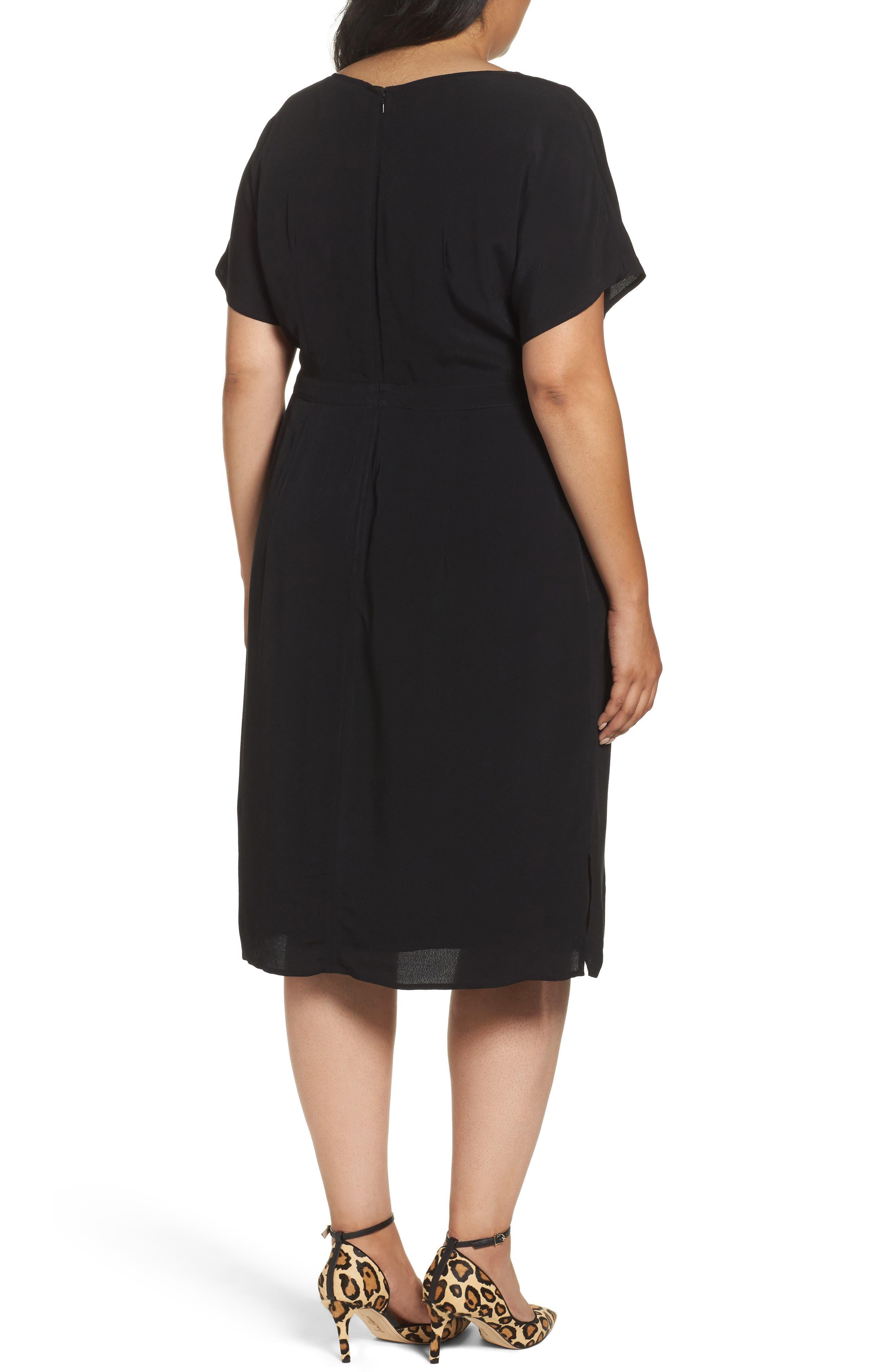Dolman Sleeve Shift Dress,                             Alternate thumbnail 3, color,