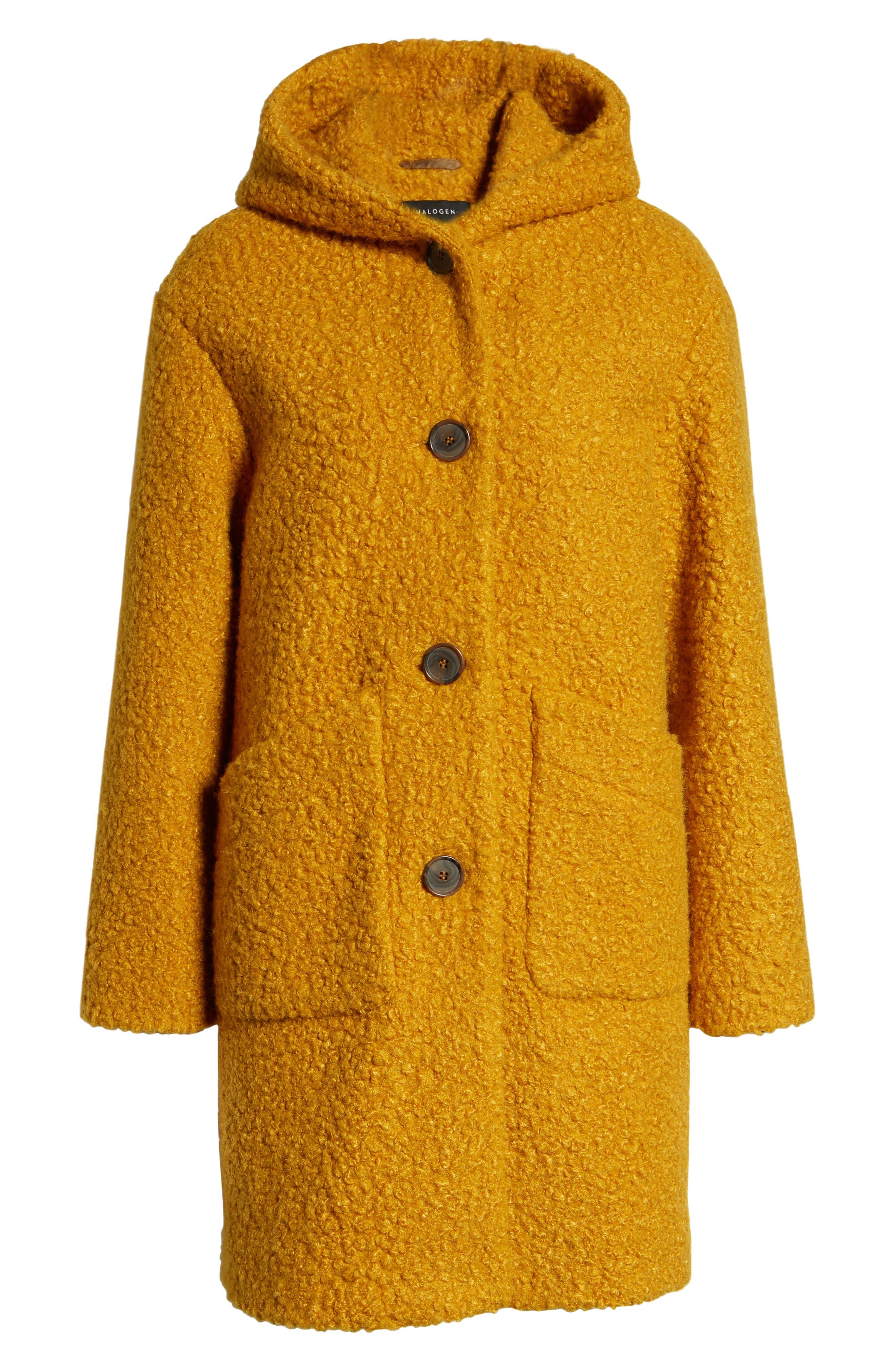 Hooded Coat,                             Alternate thumbnail 6, color,                             YELLOW TREASURE
