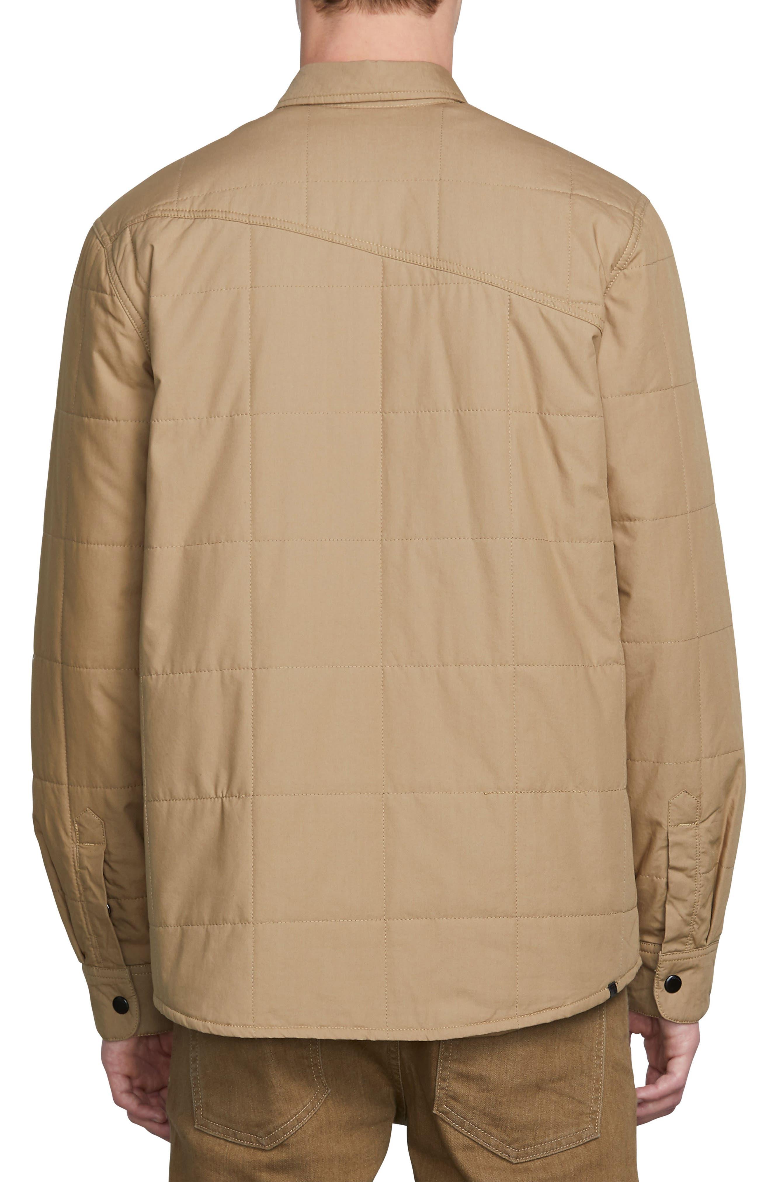 Larkin Quilted Shirt Jacket,                             Alternate thumbnail 2, color,                             BROWN SAND