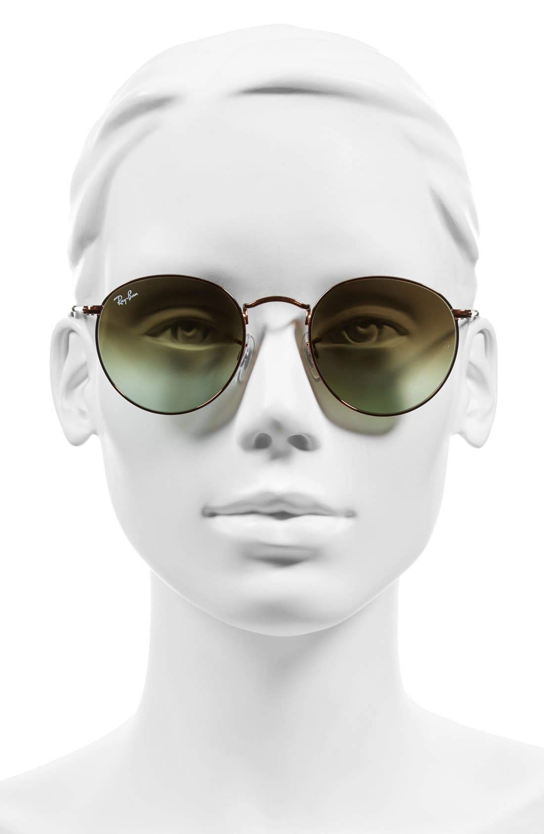 Icons 50mm Retro Sunglasses,                             Alternate thumbnail 4, color,