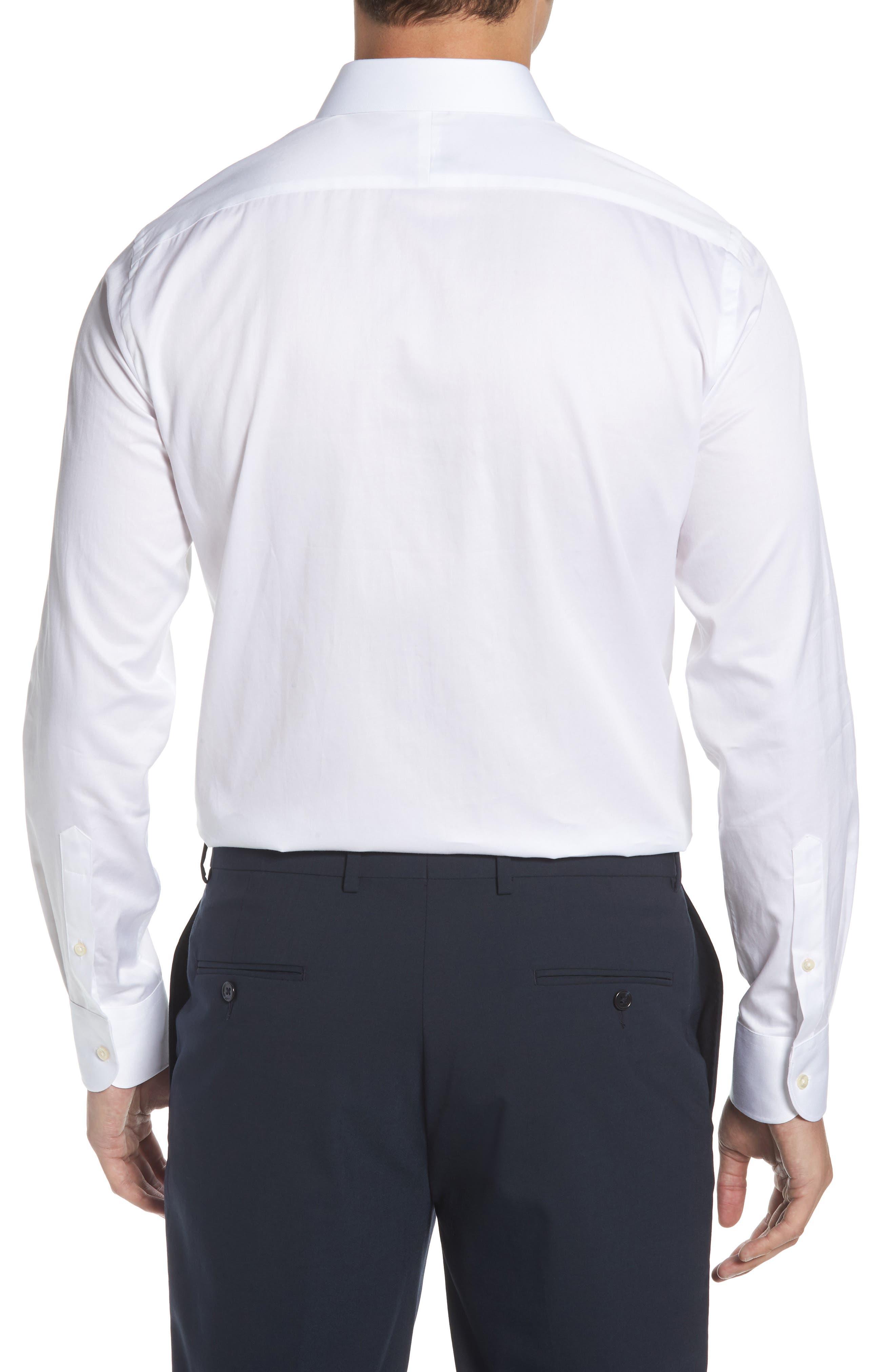 Regular Fit Solid Dress Shirt,                             Alternate thumbnail 3, color,                             100