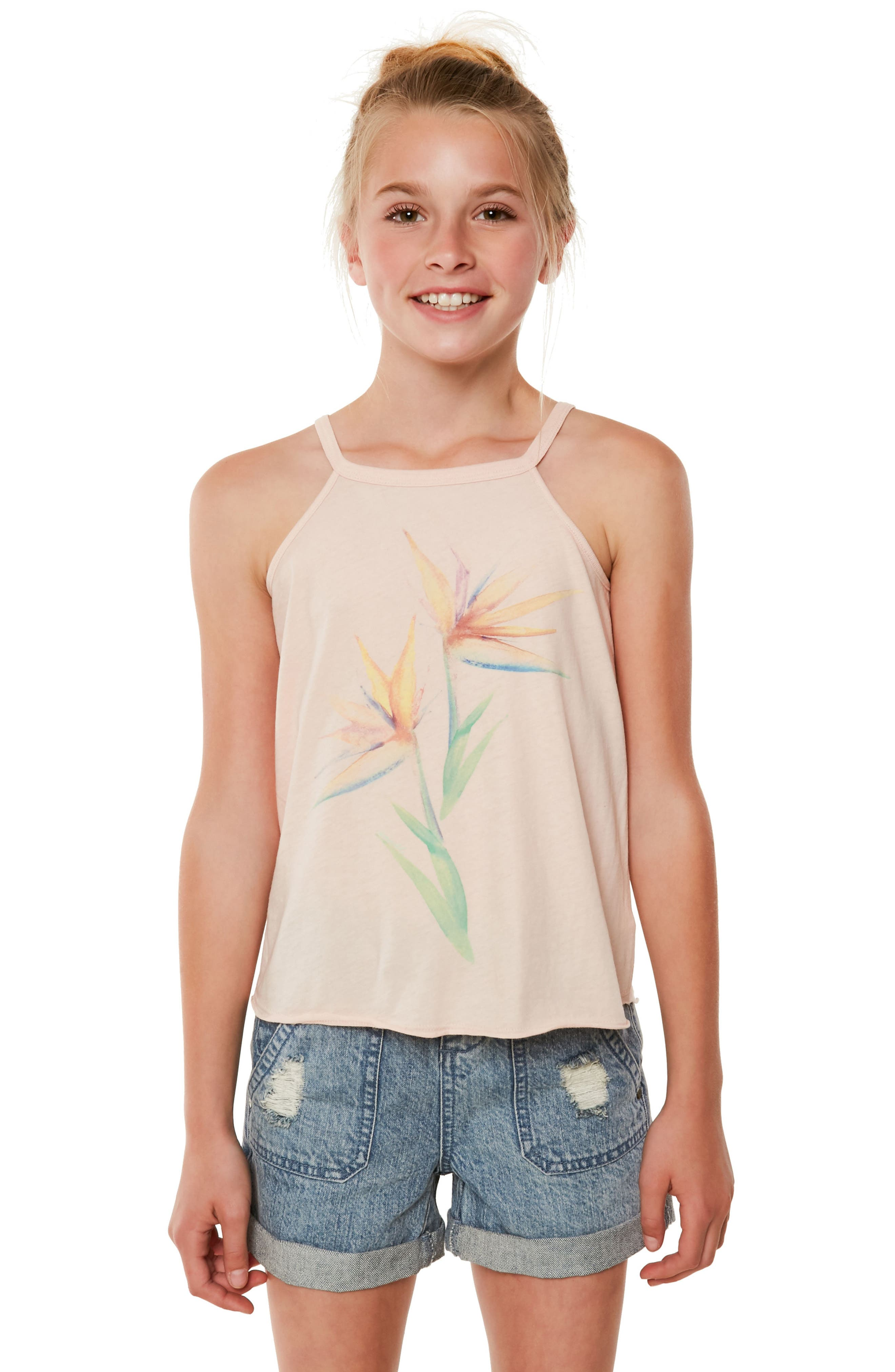 Paradise Bloom Graphic Tank,                         Main,                         color,