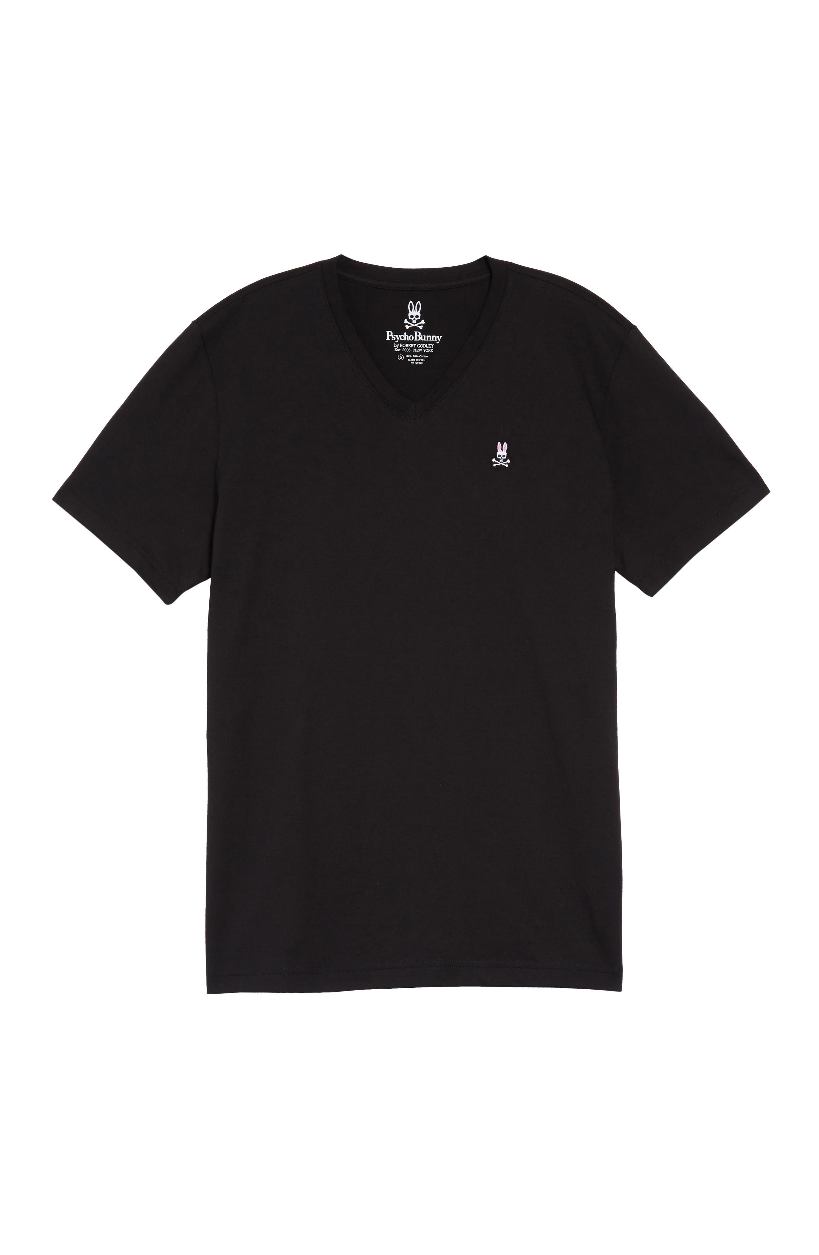 V-Neck T-Shirt,                             Alternate thumbnail 6, color,                             BLACK