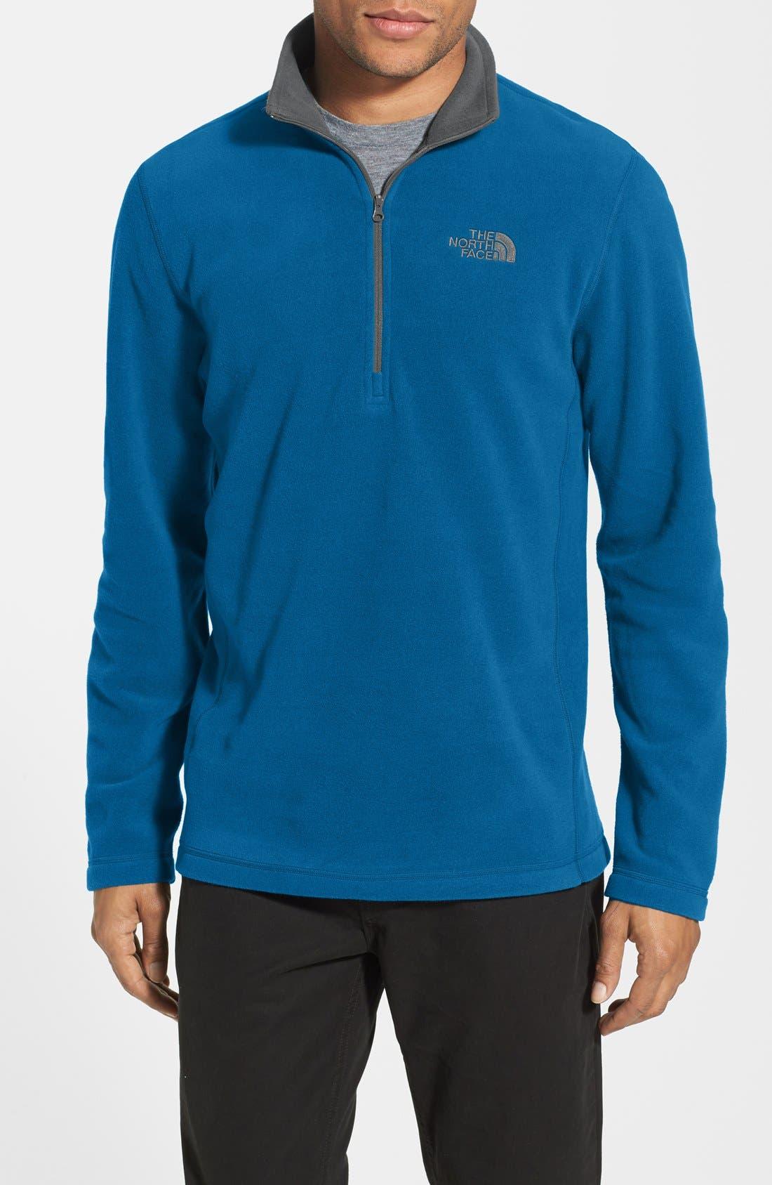 'TKA 100 Glacier' Quarter Zip Fleece Pullover,                             Main thumbnail 6, color,
