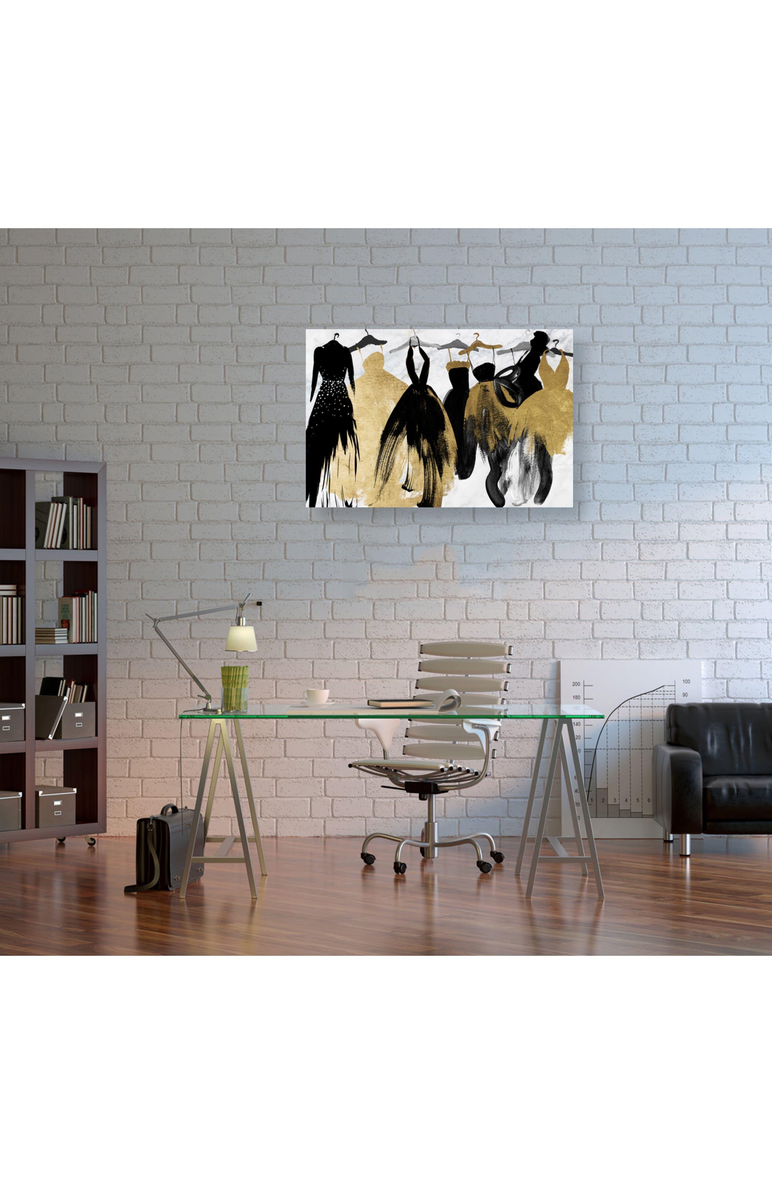 Lovely Closet Lovely Evening Canvas Wall Art,                             Alternate thumbnail 2, color,                             BLACK