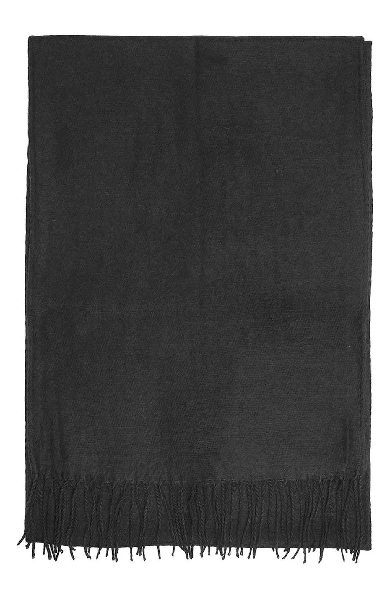 Fringed Scarf,                             Alternate thumbnail 3, color,                             001