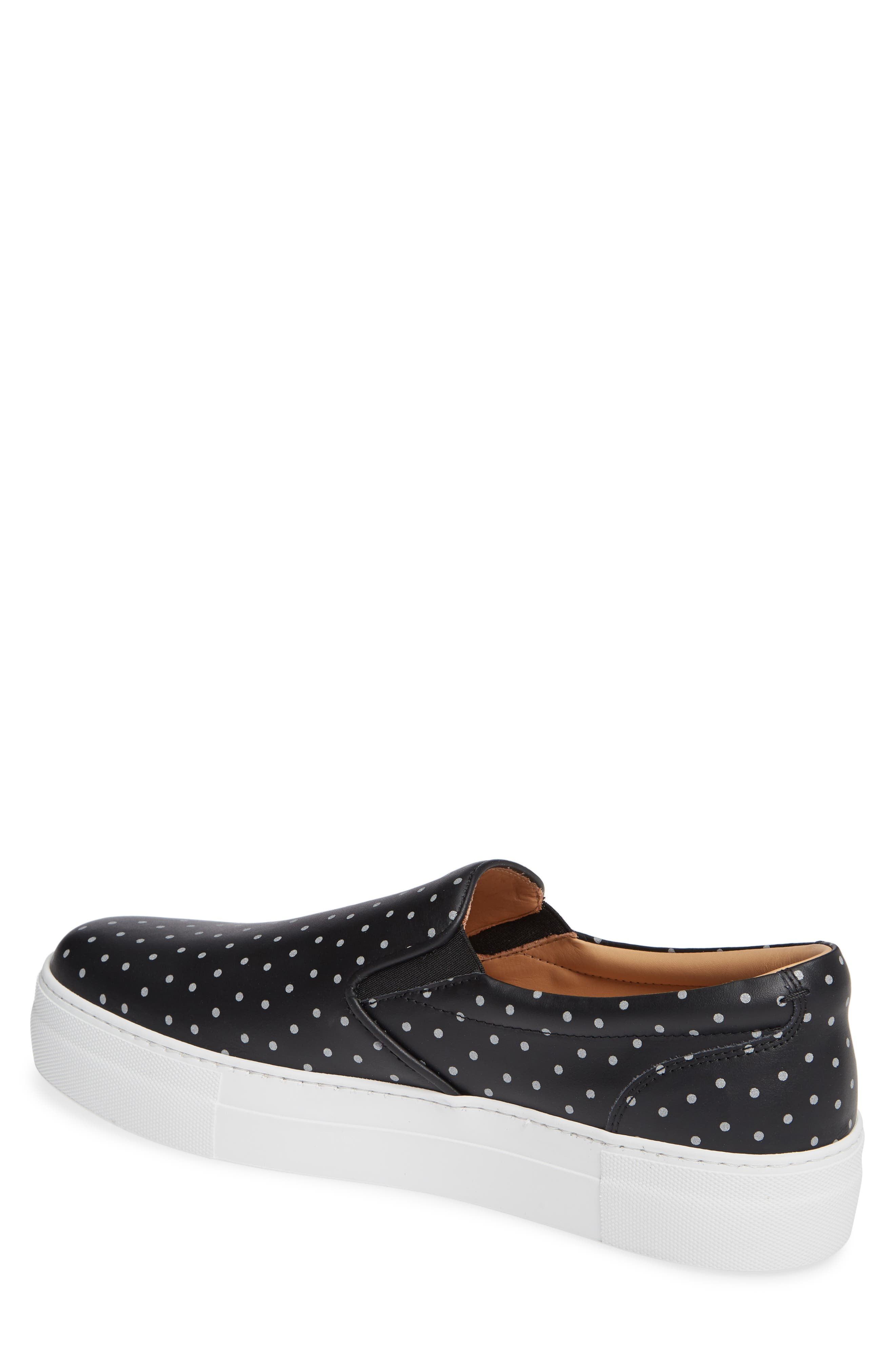 Nick Wooster x GREATS Slip-On Sneaker,                             Alternate thumbnail 2, color,                             BLACK W/ 3M DOTS