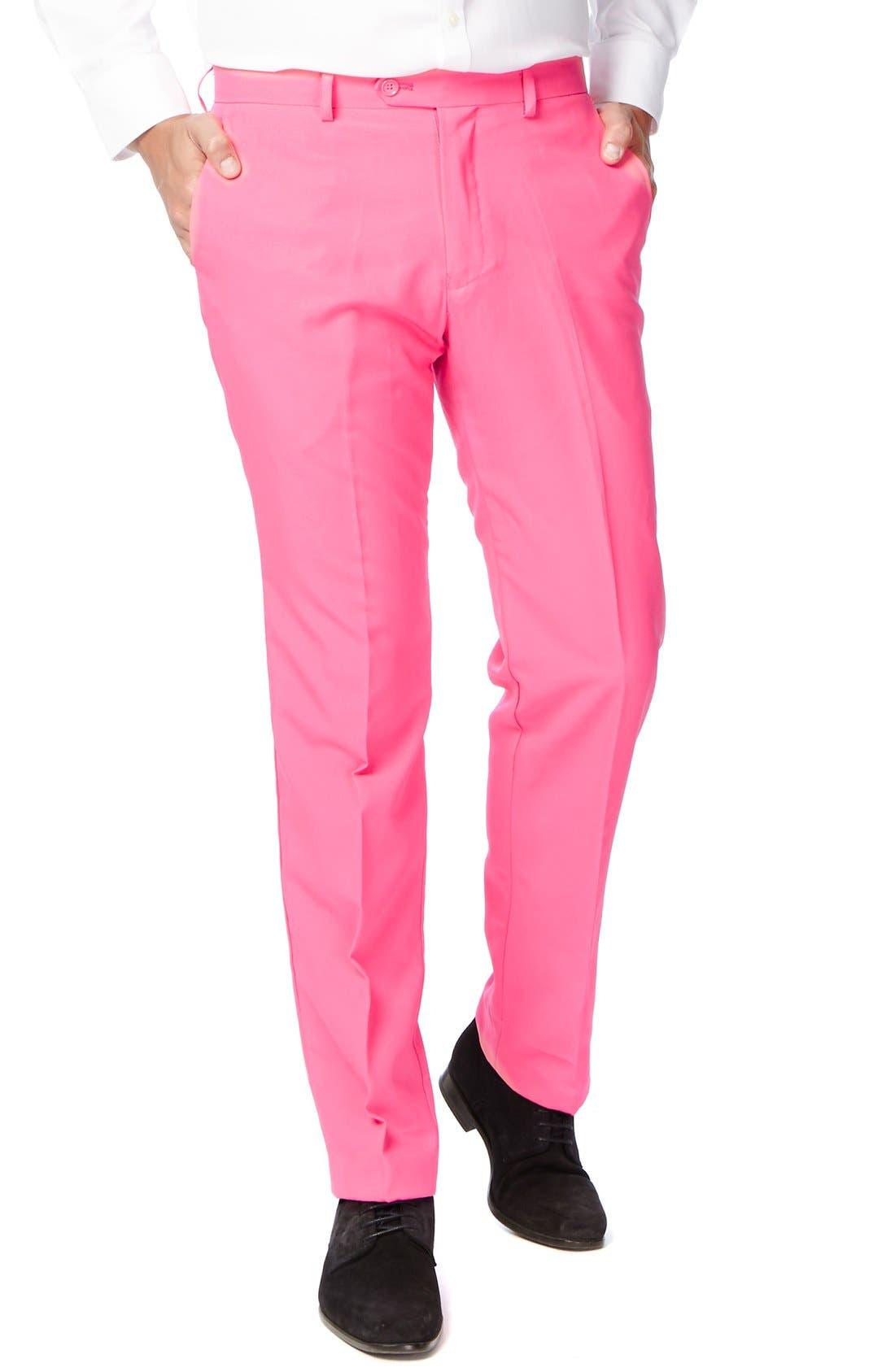 'Mr. Pink' Trim Fit Two-Piece Suit with Tie,                             Alternate thumbnail 3, color,                             650