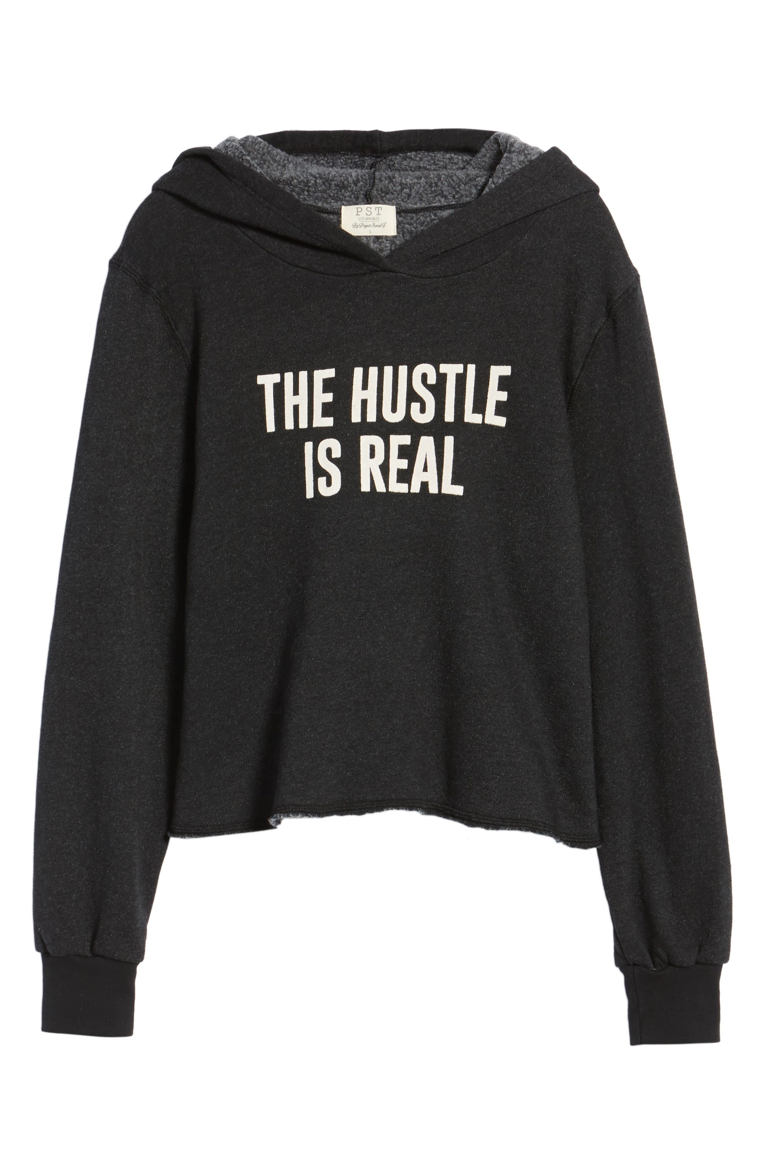 The Hustle is Real Hoodie,                             Alternate thumbnail 6, color,                             001