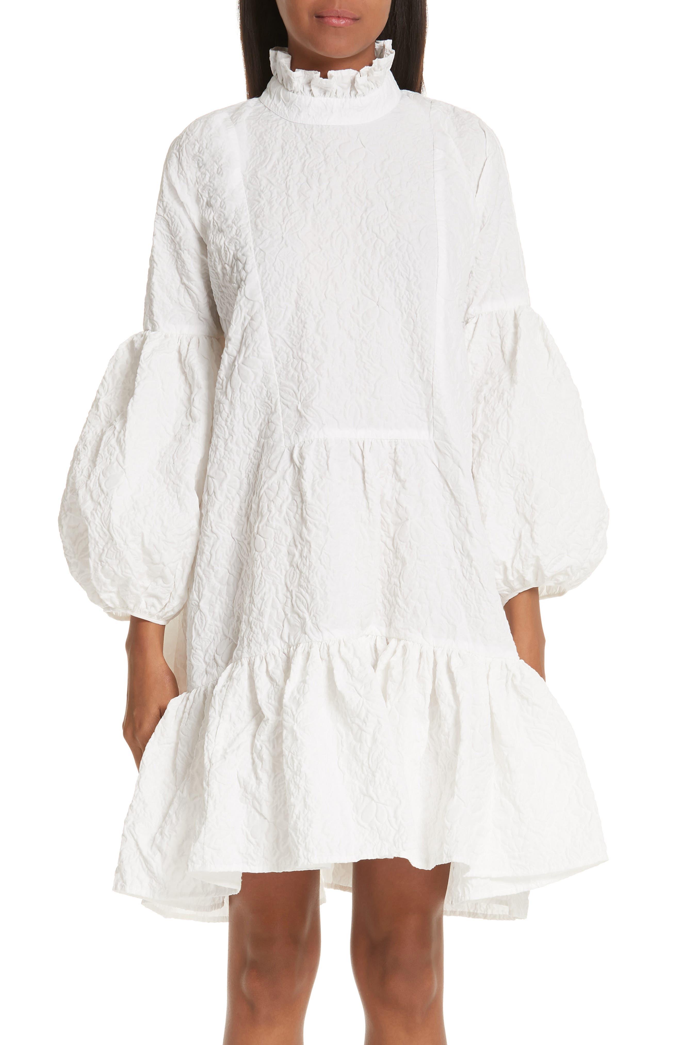 CECILIE BAHNSEN Belle Dress in White