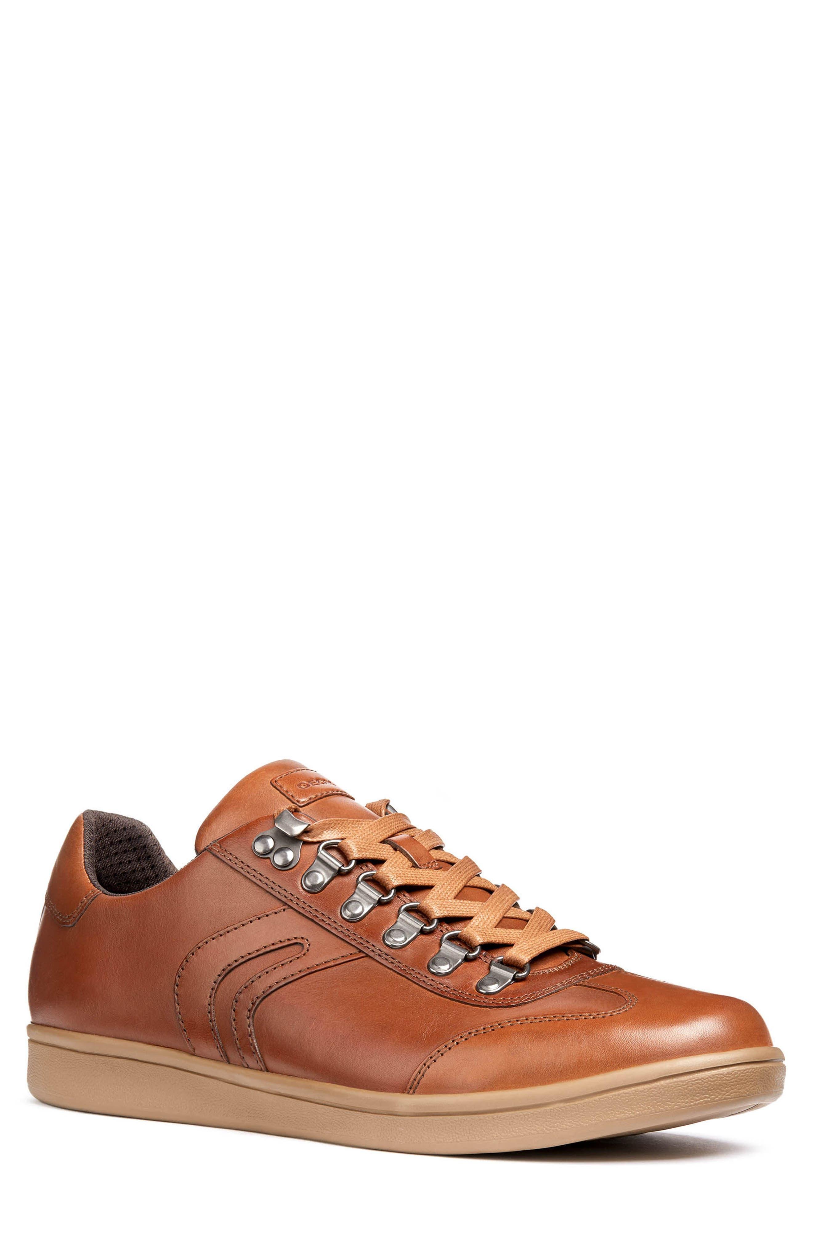Geox Warrens 12 Low Top Sneaker, Brown