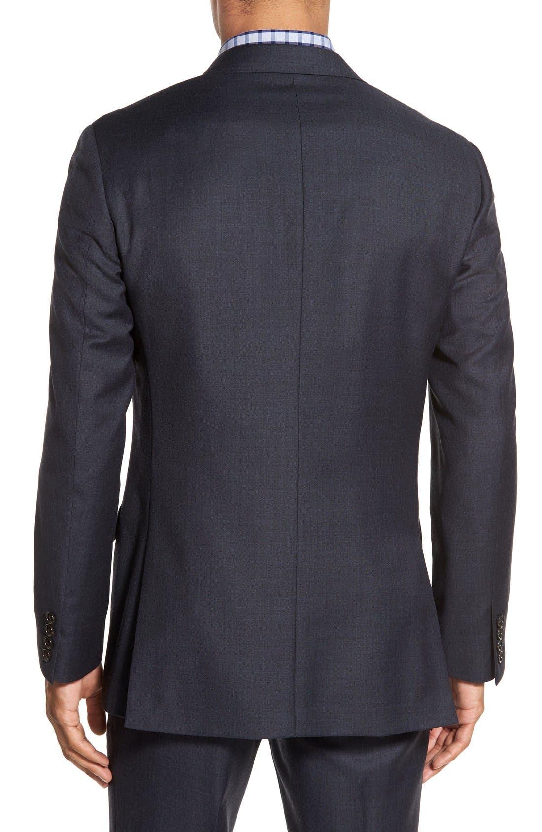 Ludlow Trim Fit Solid Wool Sport Coat,                             Alternate thumbnail 12, color,