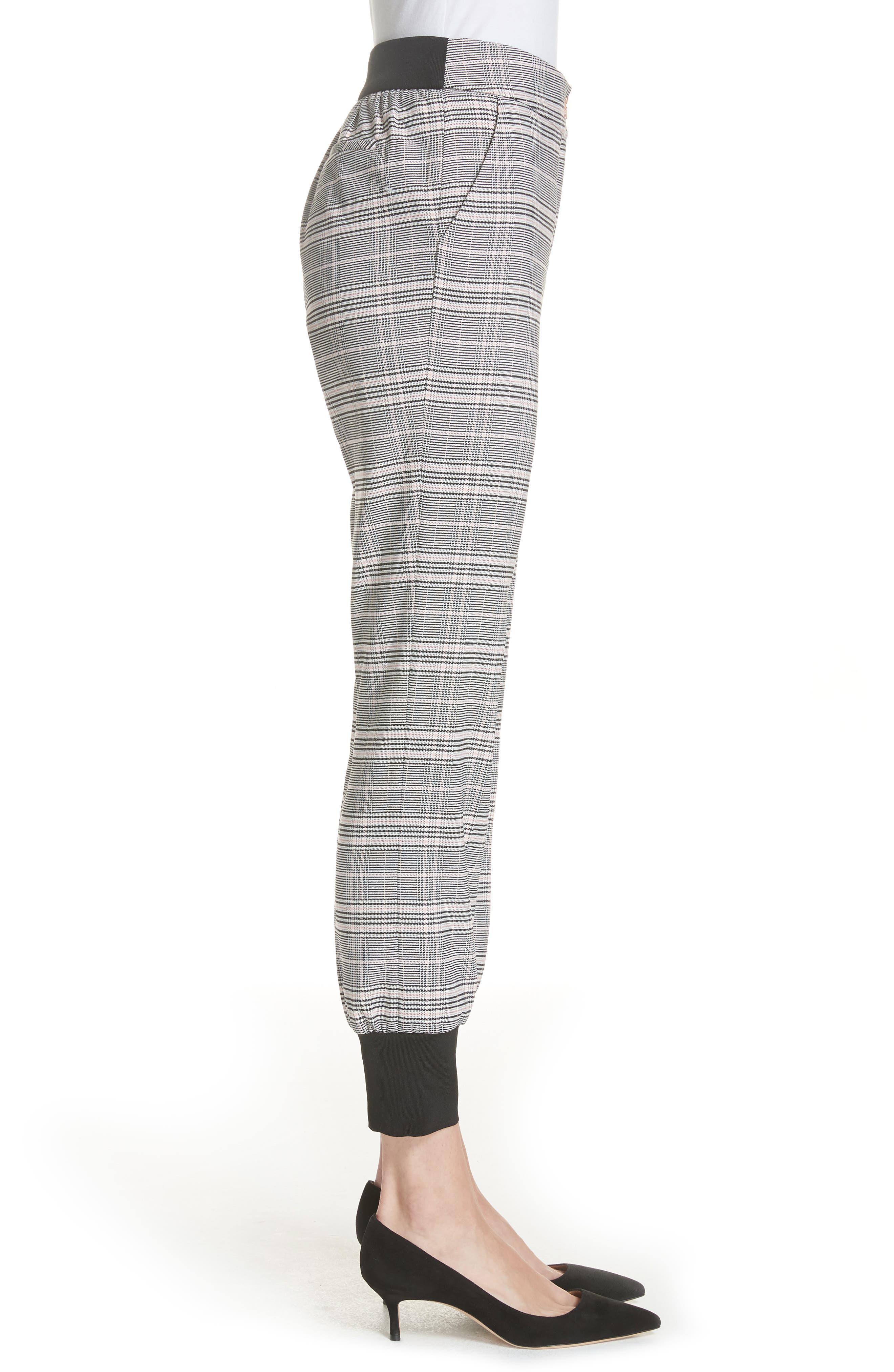 Ted Working Title Kimmt Check Plaid Trousers,                             Alternate thumbnail 3, color,                             GREY