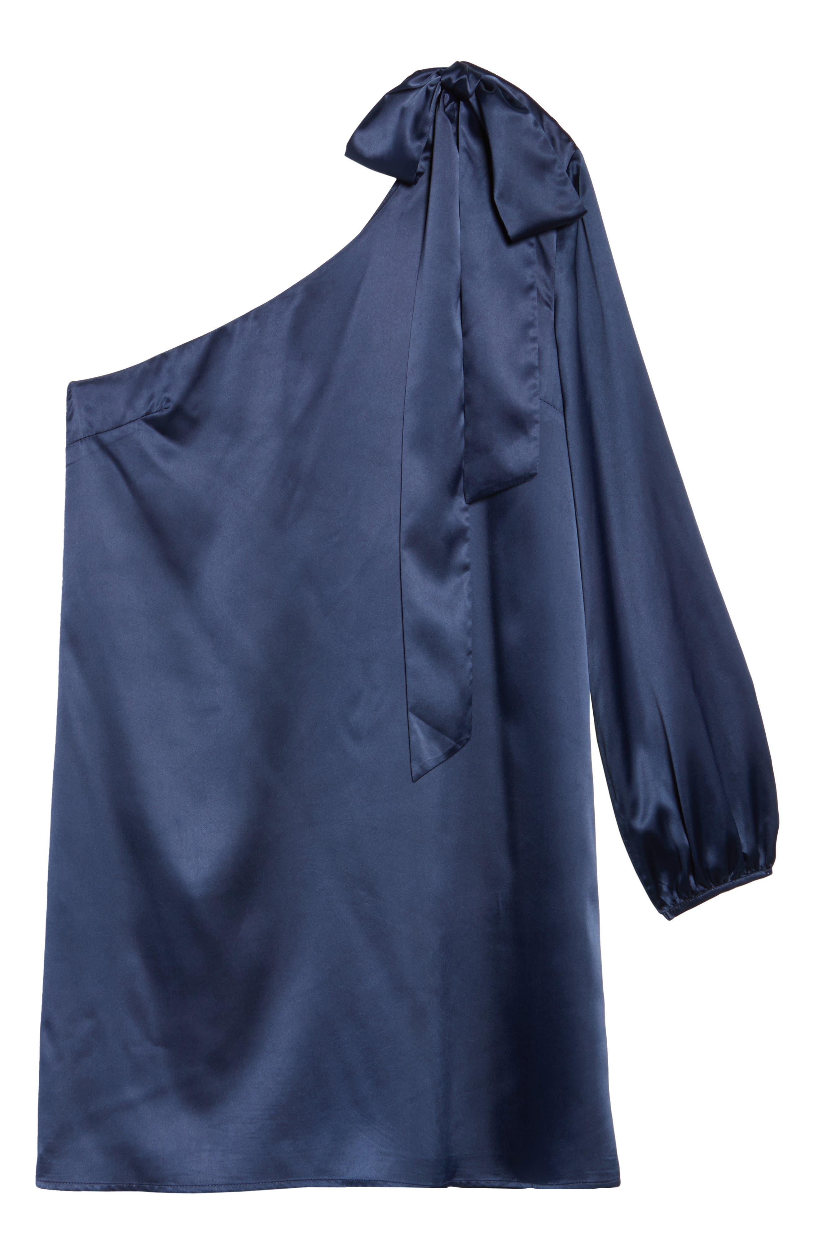 One-Sleeve Shift Dress,                             Alternate thumbnail 11, color,