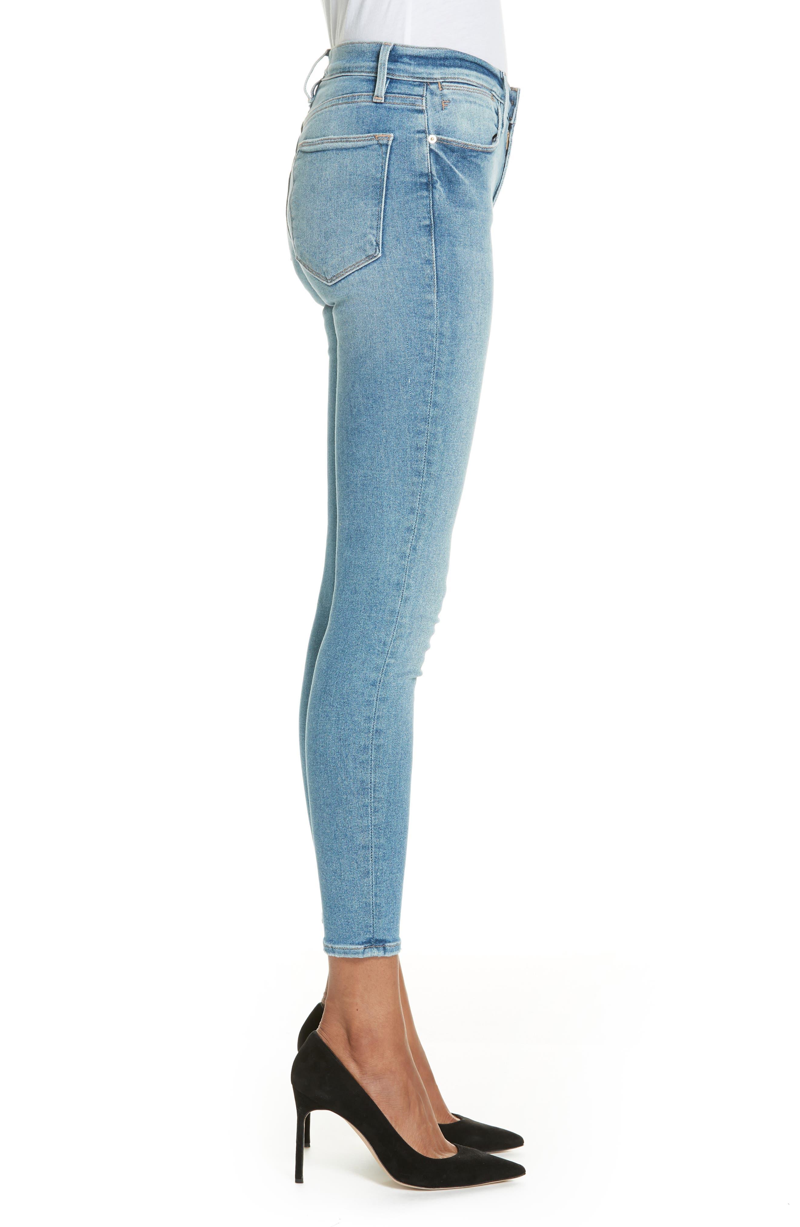 Le High Skinny Jeans,                             Alternate thumbnail 3, color,                             DUPONT DRIVE