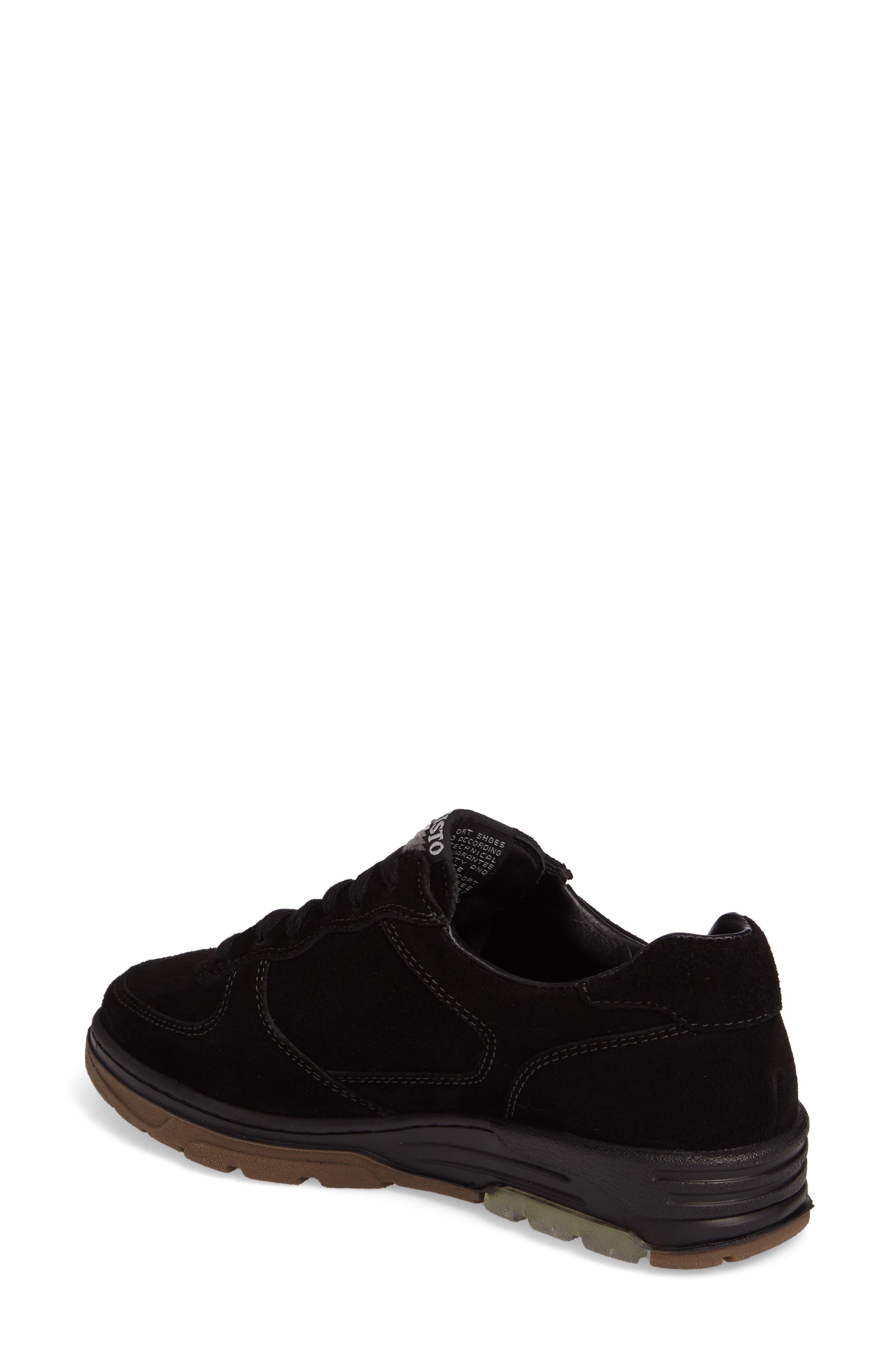 Nykita Sneaker,                             Alternate thumbnail 2, color,                             BLACK SUEDE