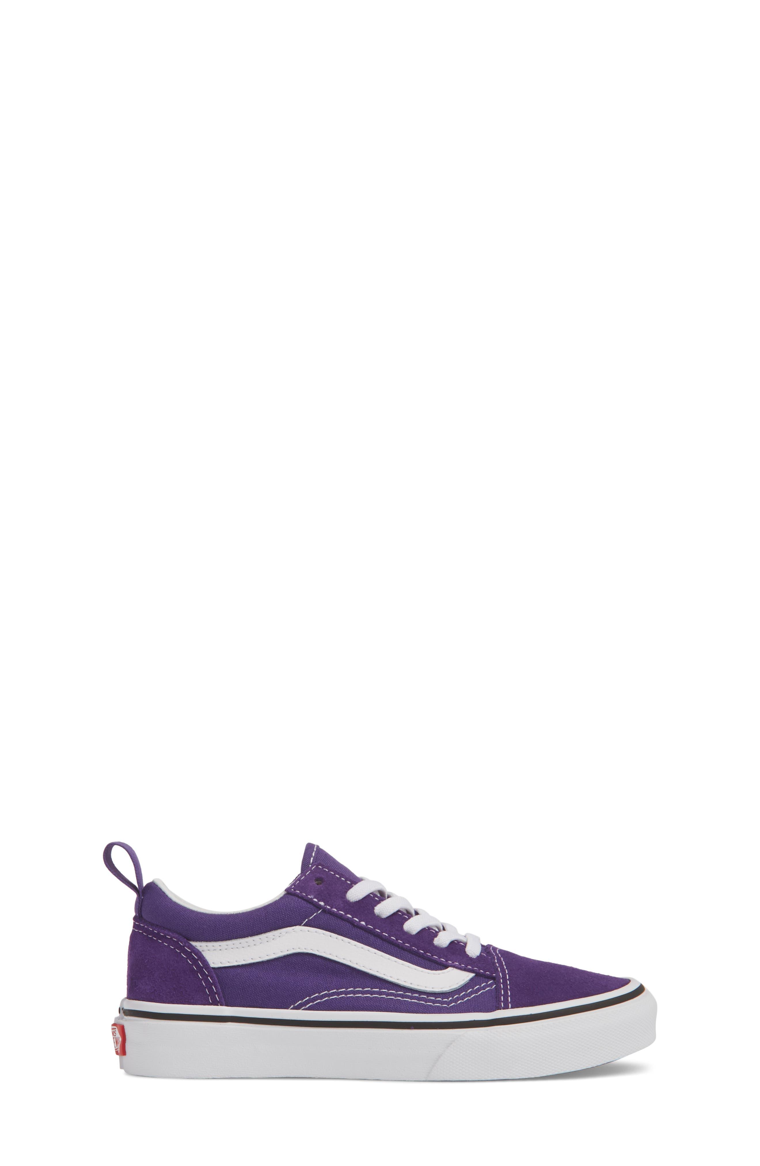 'Old Skool' Skate Sneaker,                             Alternate thumbnail 3, color,                             HELIOTROPE/ WHITE