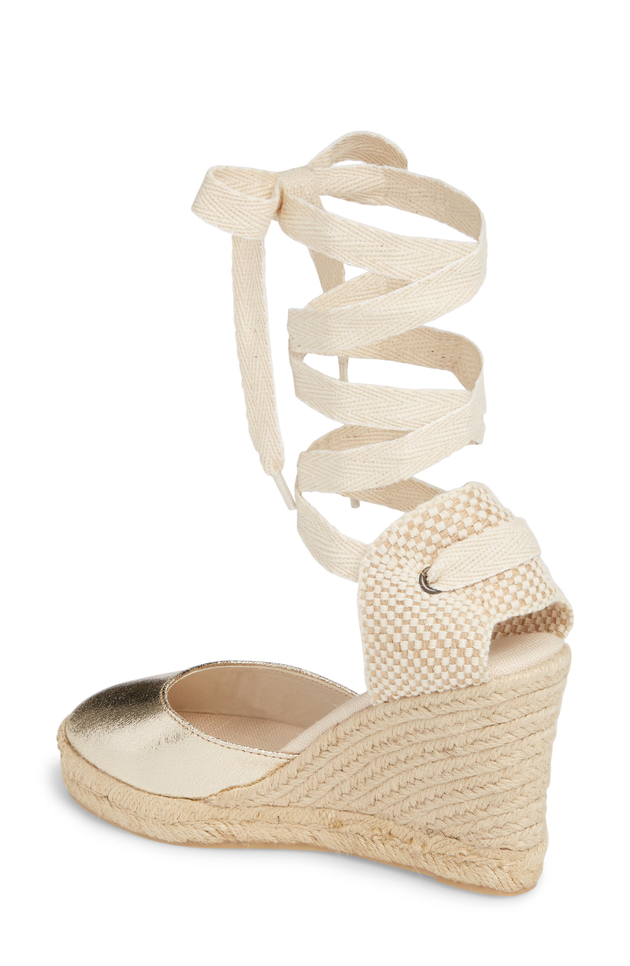 Wedge Lace-Up Espadrille Sandal,                             Alternate thumbnail 2, color,                             711