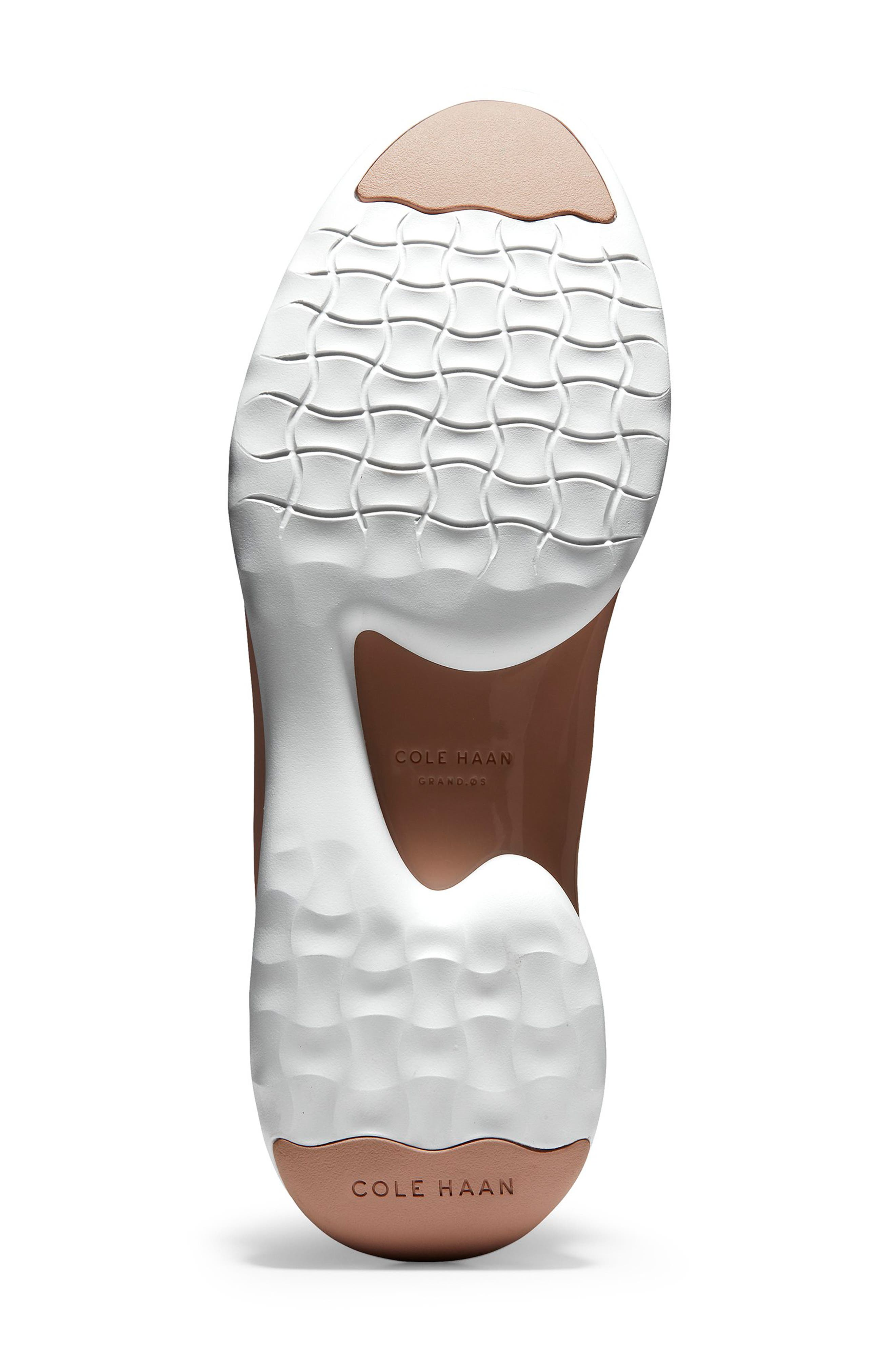 ZeroGrand Knit Sneaker,                             Alternate thumbnail 6, color,                             SAND/ ROSE KNIT/ LEATHER