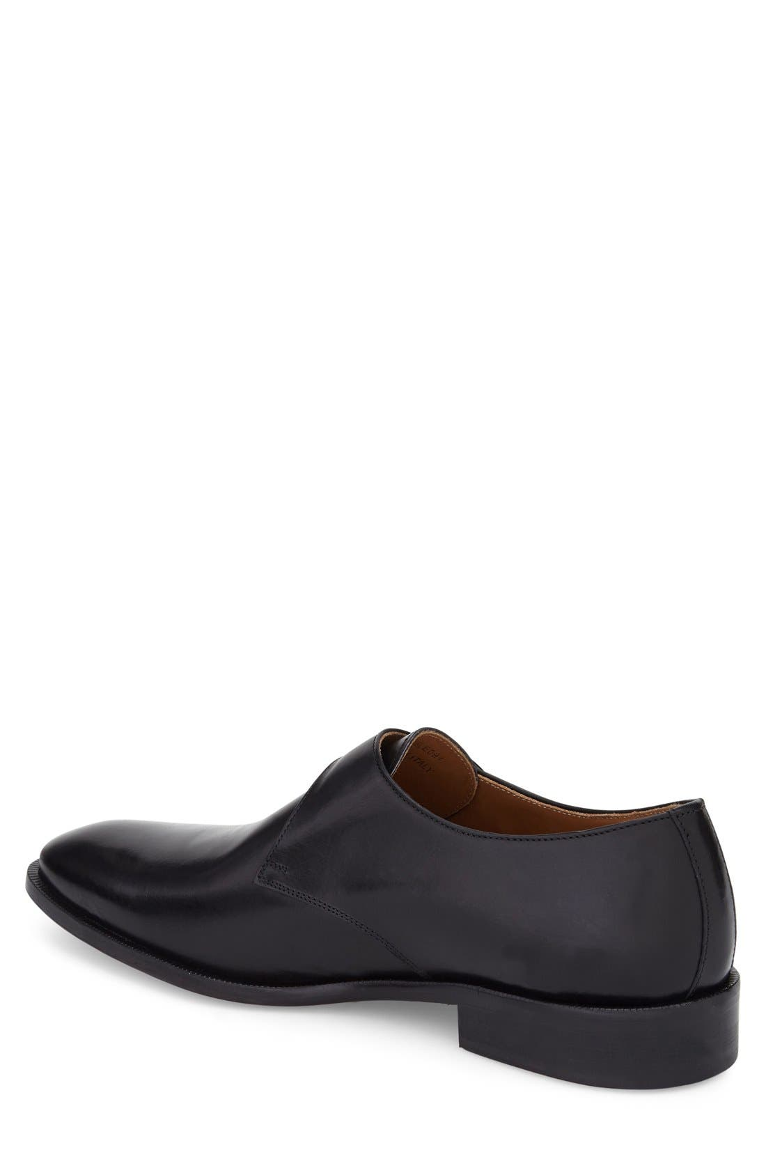 Suit Coat Monk Strap Shoe,                             Alternate thumbnail 2, color,                             001