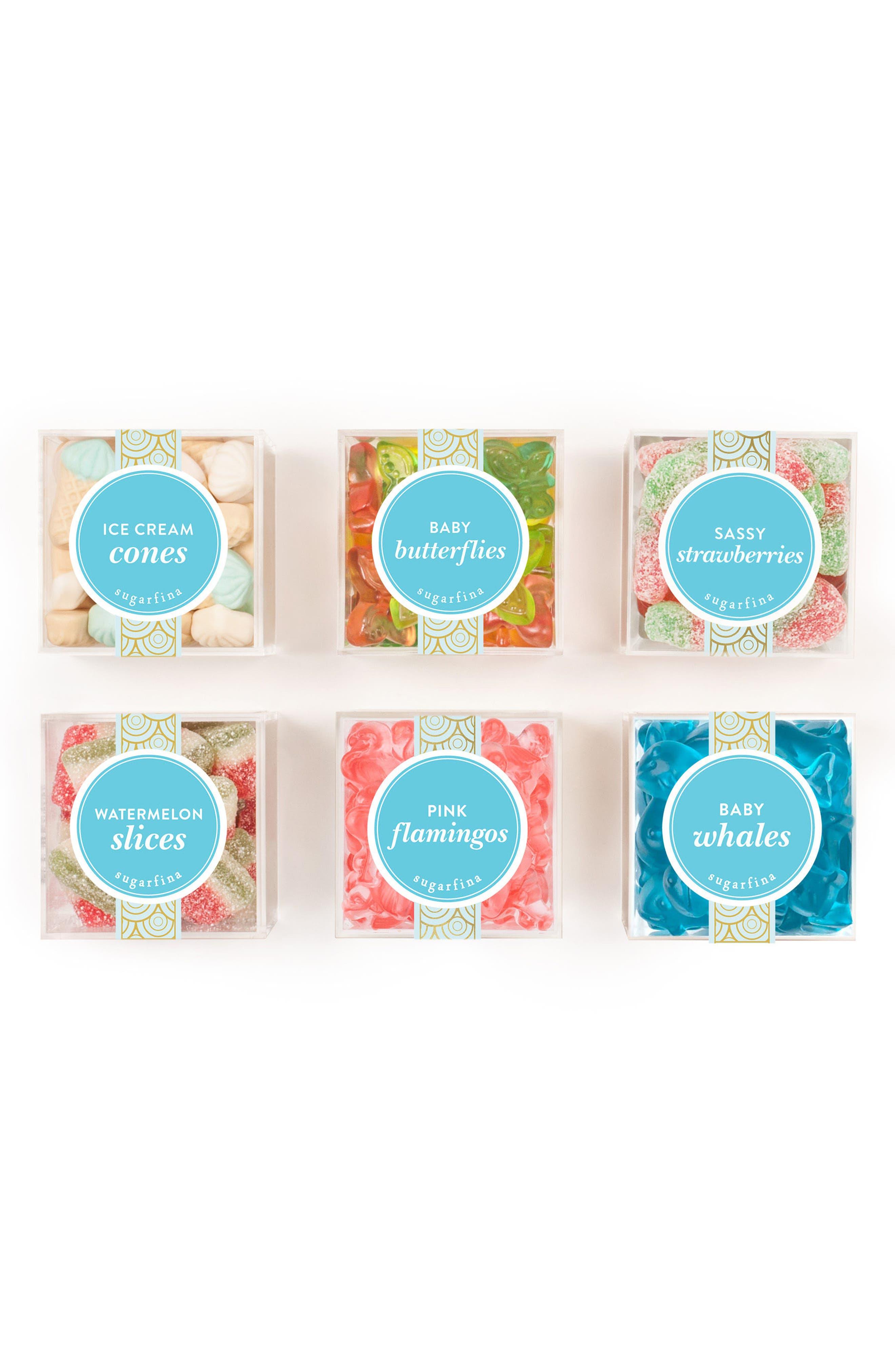 Set of 6 Summer Fun Candy Cubes,                             Main thumbnail 1, color,                             100