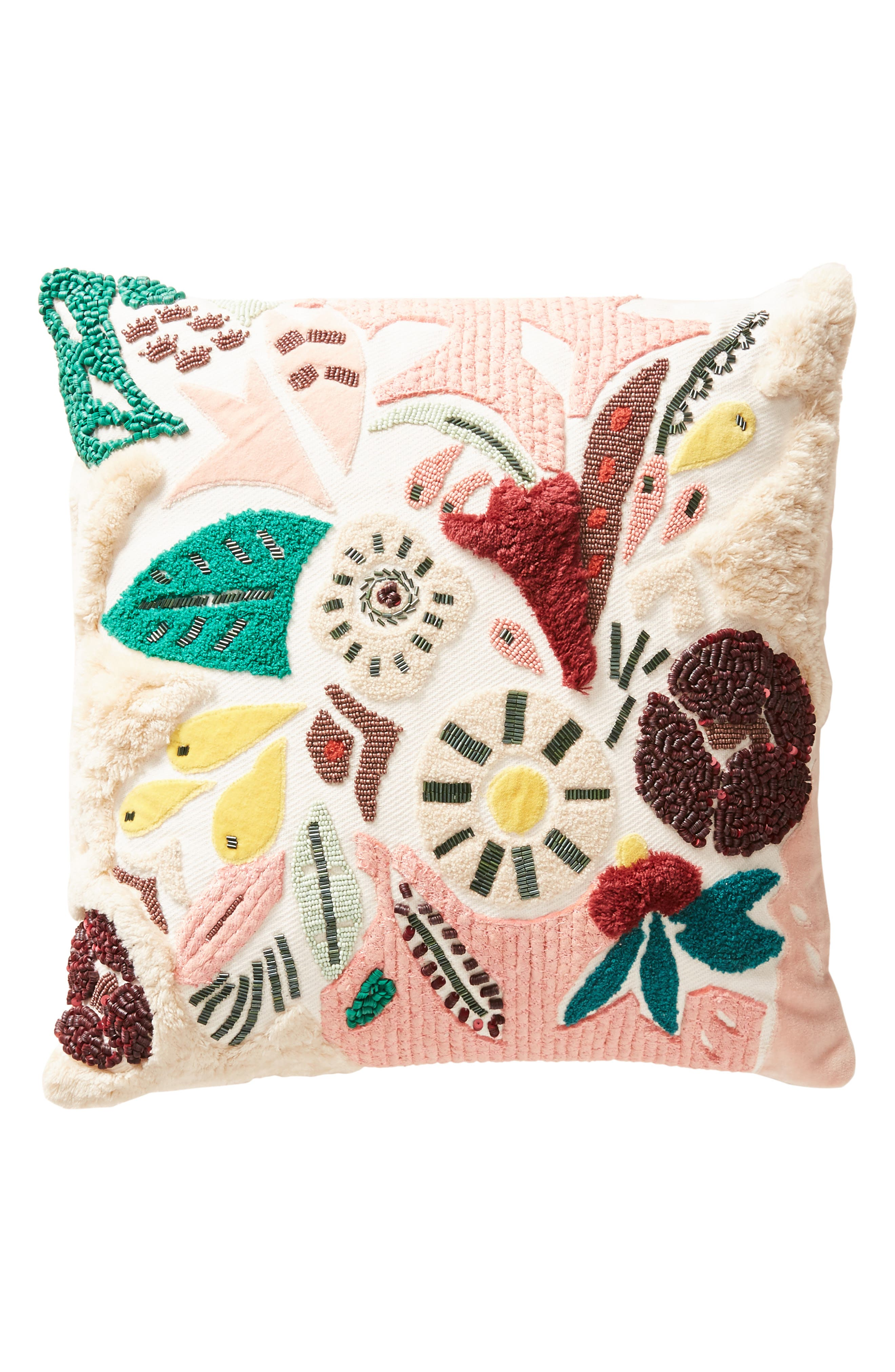 ANTHROPOLOGIE,                             Cleo Accent Pillow,                             Alternate thumbnail 4, color,                             650