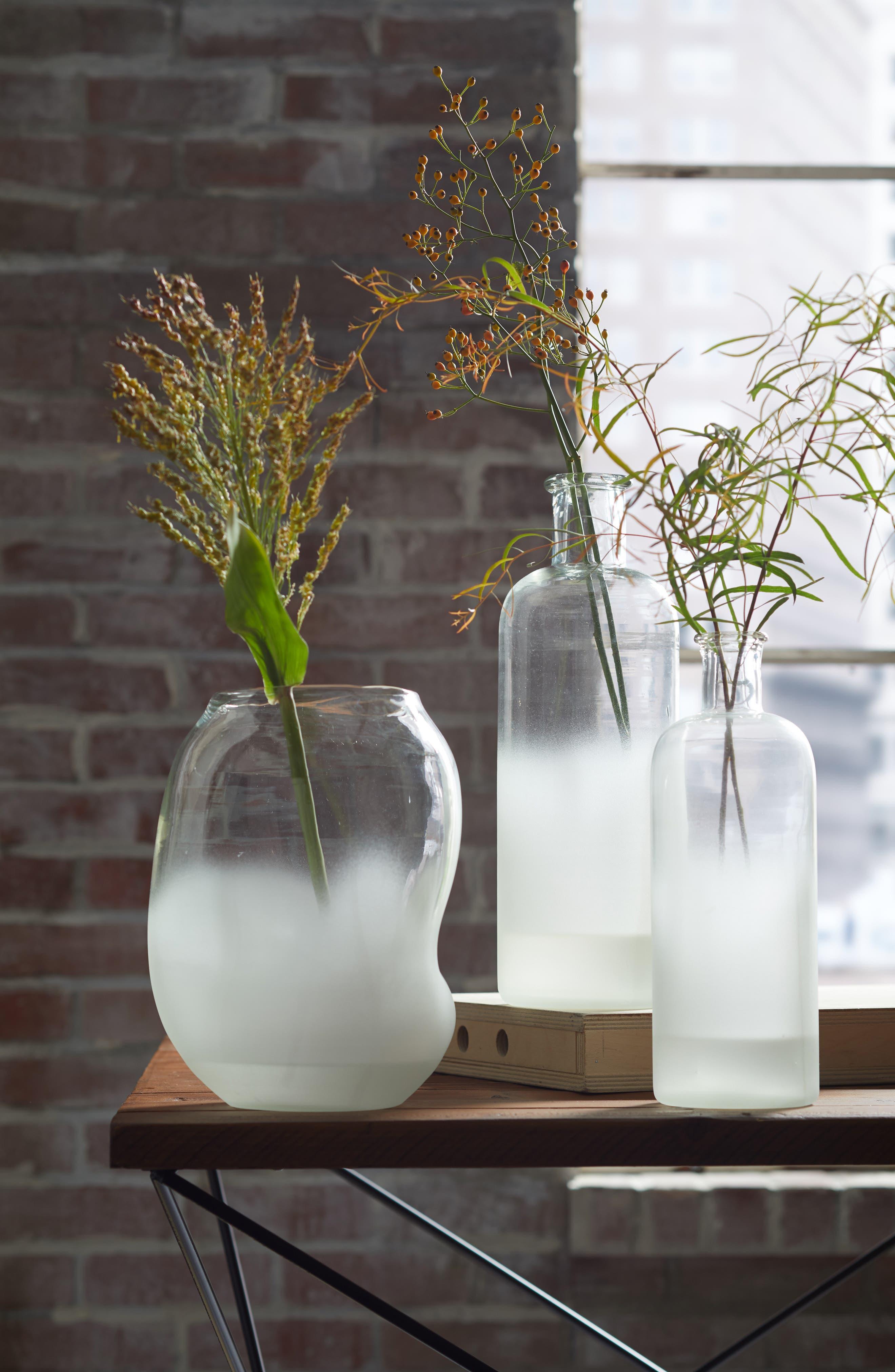 Treasure&Bond Frosted Jar Vase,                             Alternate thumbnail 2, color,                             CLEAR