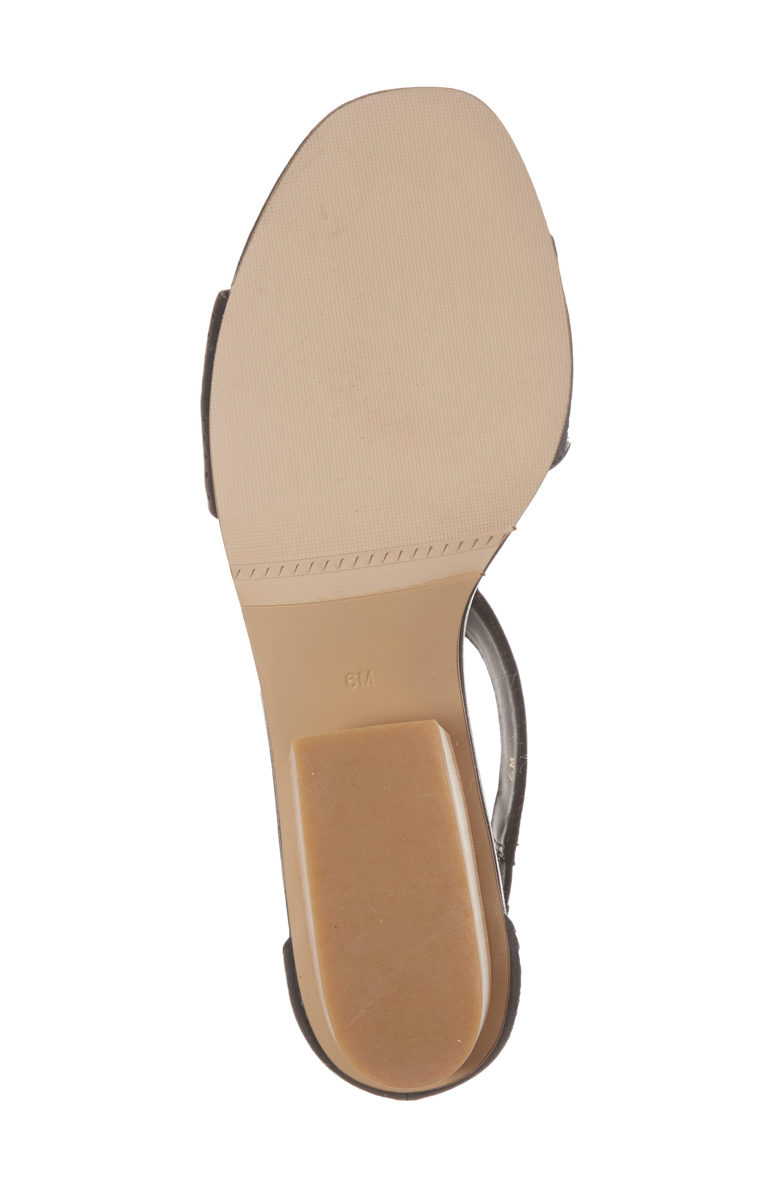 Calyx Block Heel Sandal,                             Alternate thumbnail 6, color,                             BLACK LEATHER