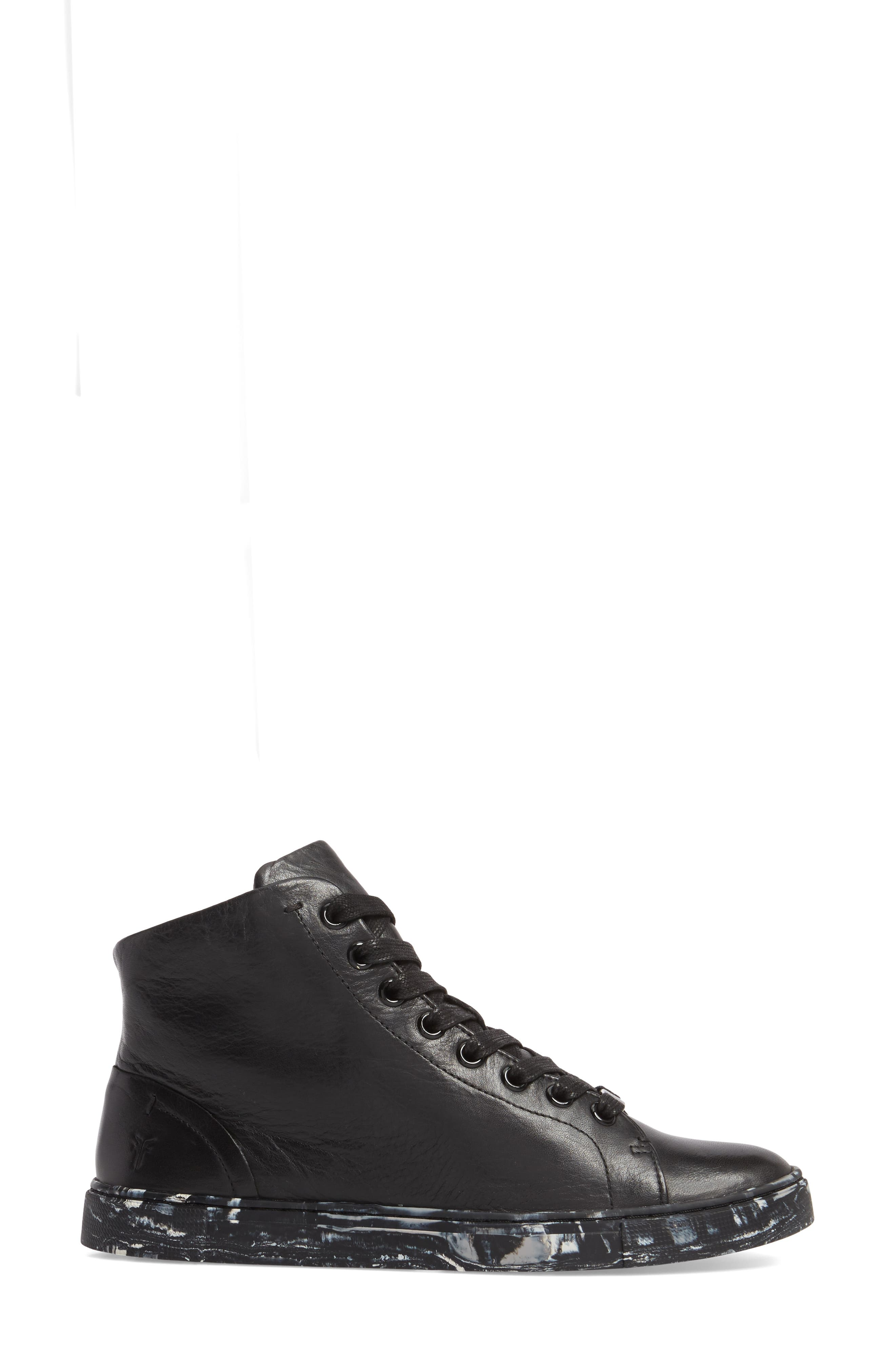 Ivy High Top Sneaker,                             Alternate thumbnail 3, color,                             001