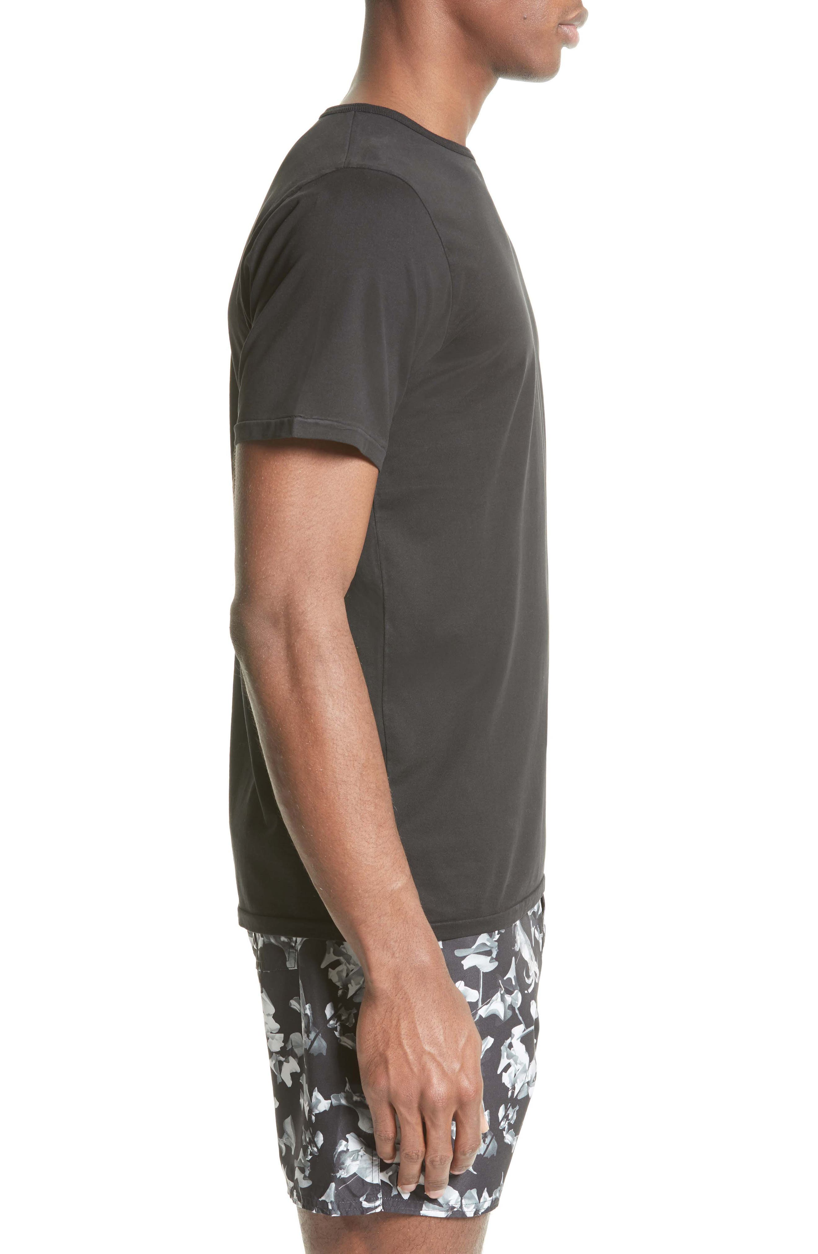 Brandon Pima Cotton T-Shirt,                             Alternate thumbnail 3, color,                             001