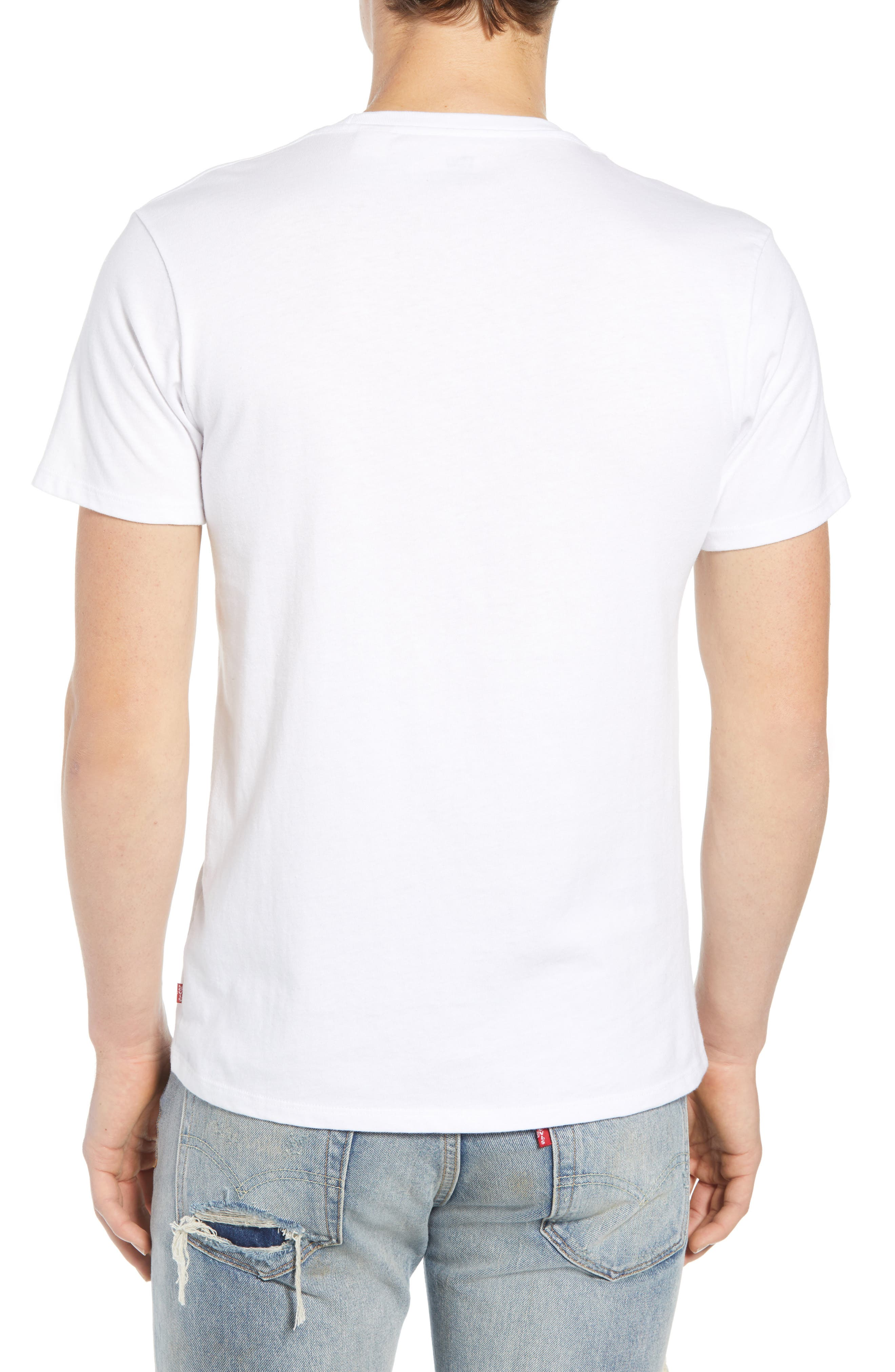 LEVI'S<SUP>®</SUP>,                             Logo T-Shirt,                             Alternate thumbnail 2, color,                             SPORTSWEAR LOGO WHITE