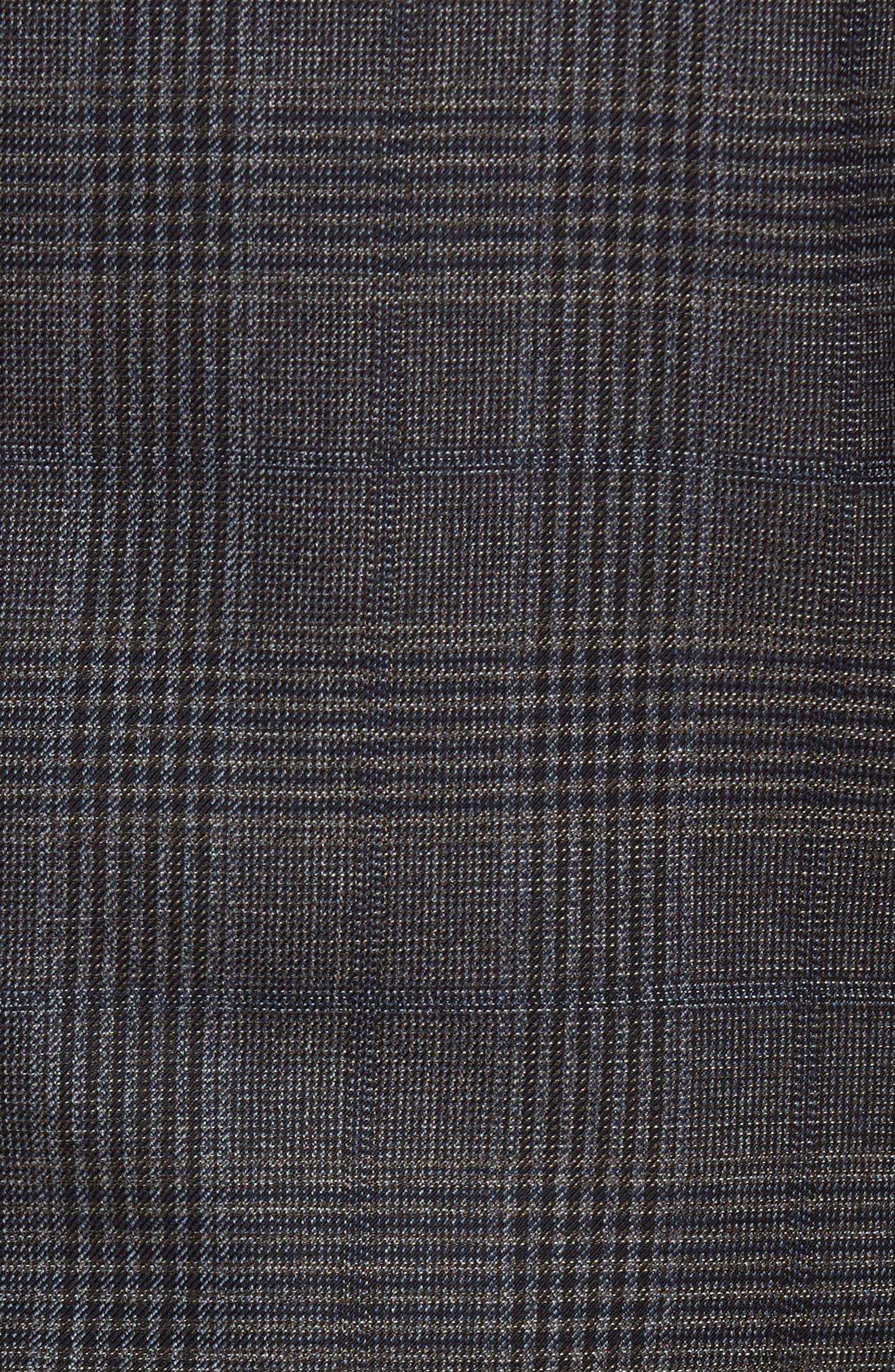 Classic Fit Plaid Wool Sport Coat,                             Alternate thumbnail 6, color,                             099