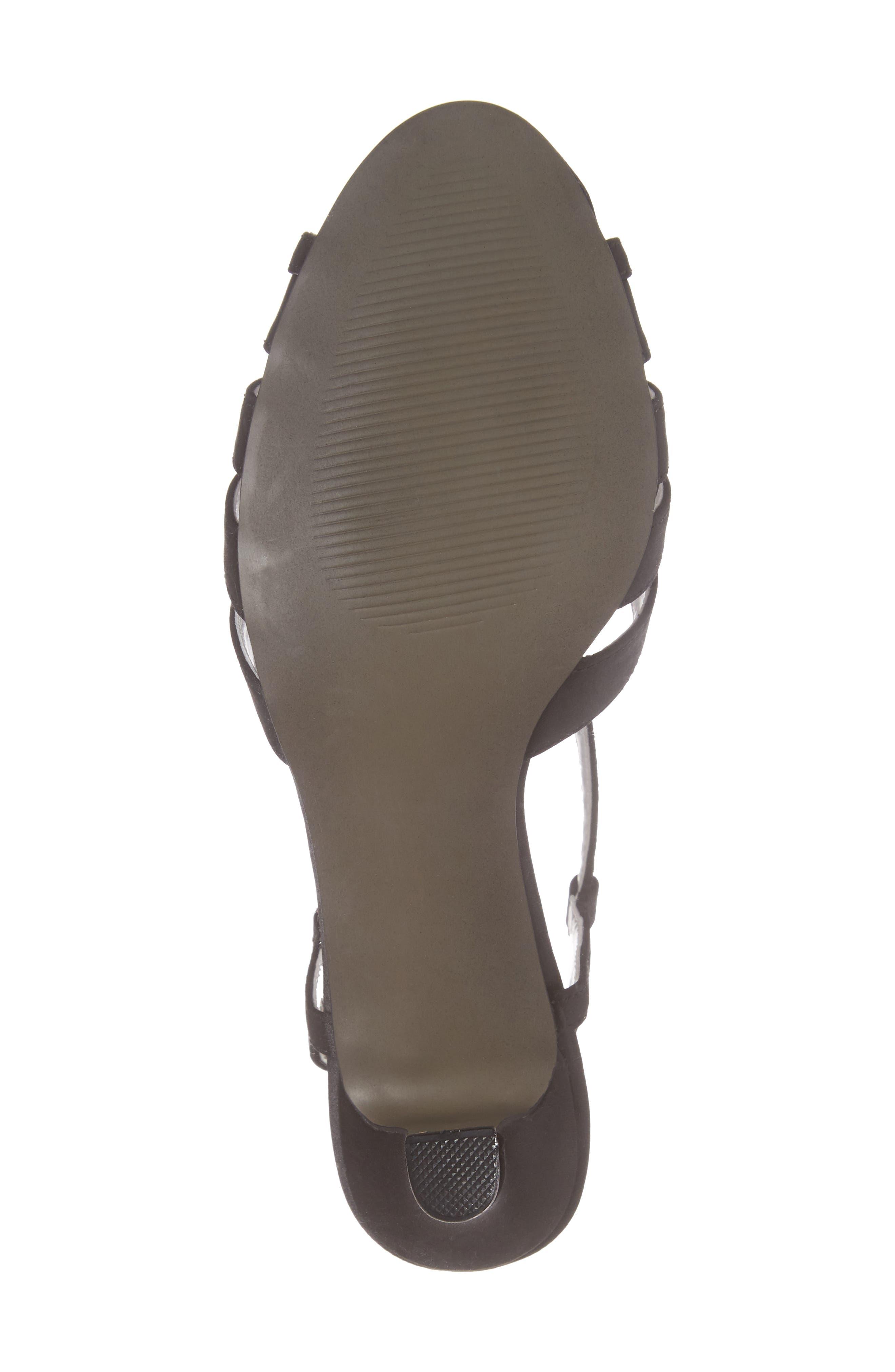 Whisper Slingback Sandal,                             Alternate thumbnail 6, color,                             BLACK SATIN