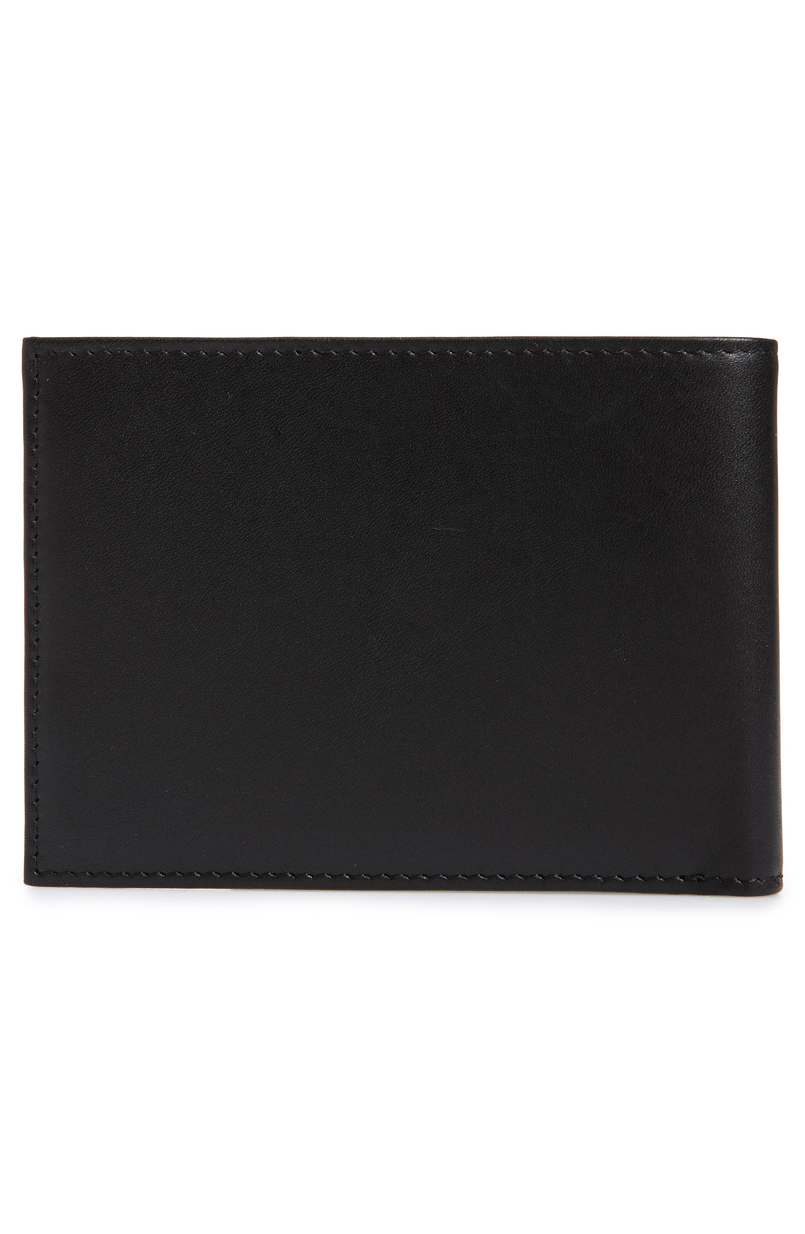 Chelsea Leather Wallet,                             Alternate thumbnail 3, color,                             BLACK