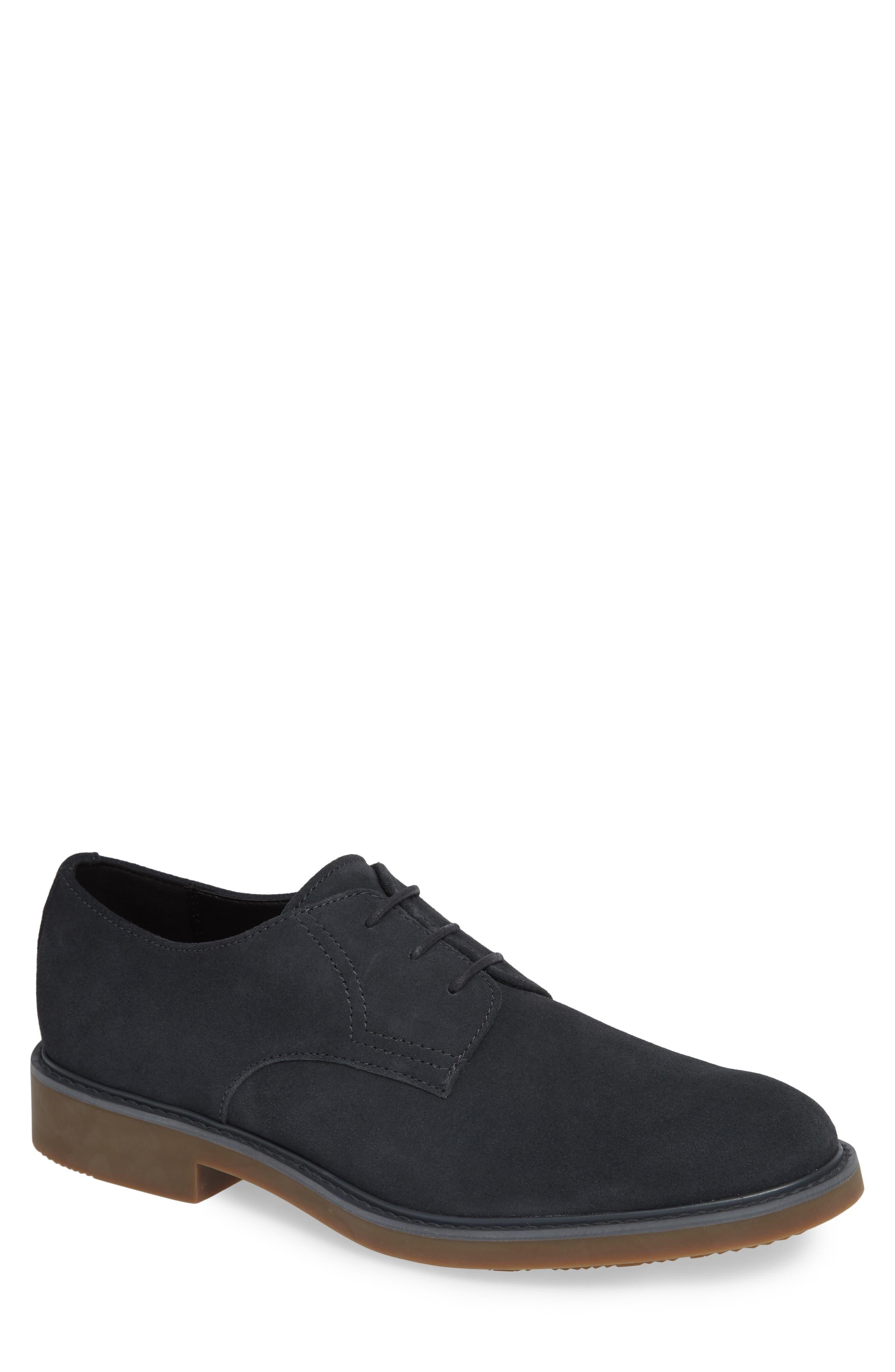 Varick Plain Toe Derby,                         Main,                         color, STEEL GREYSTONE CALF SUEDE