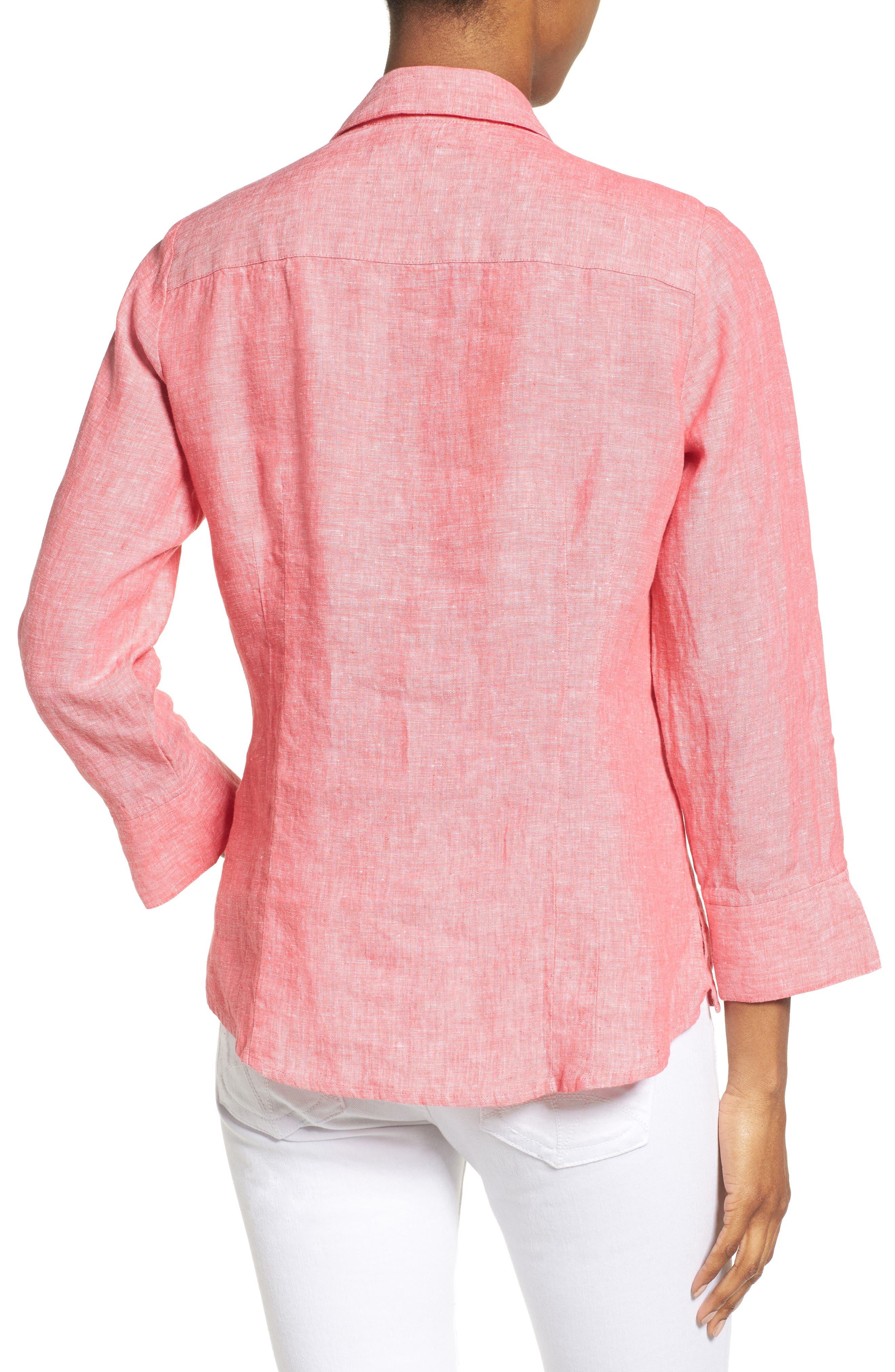 Linen Chambray Shirt,                             Alternate thumbnail 14, color,