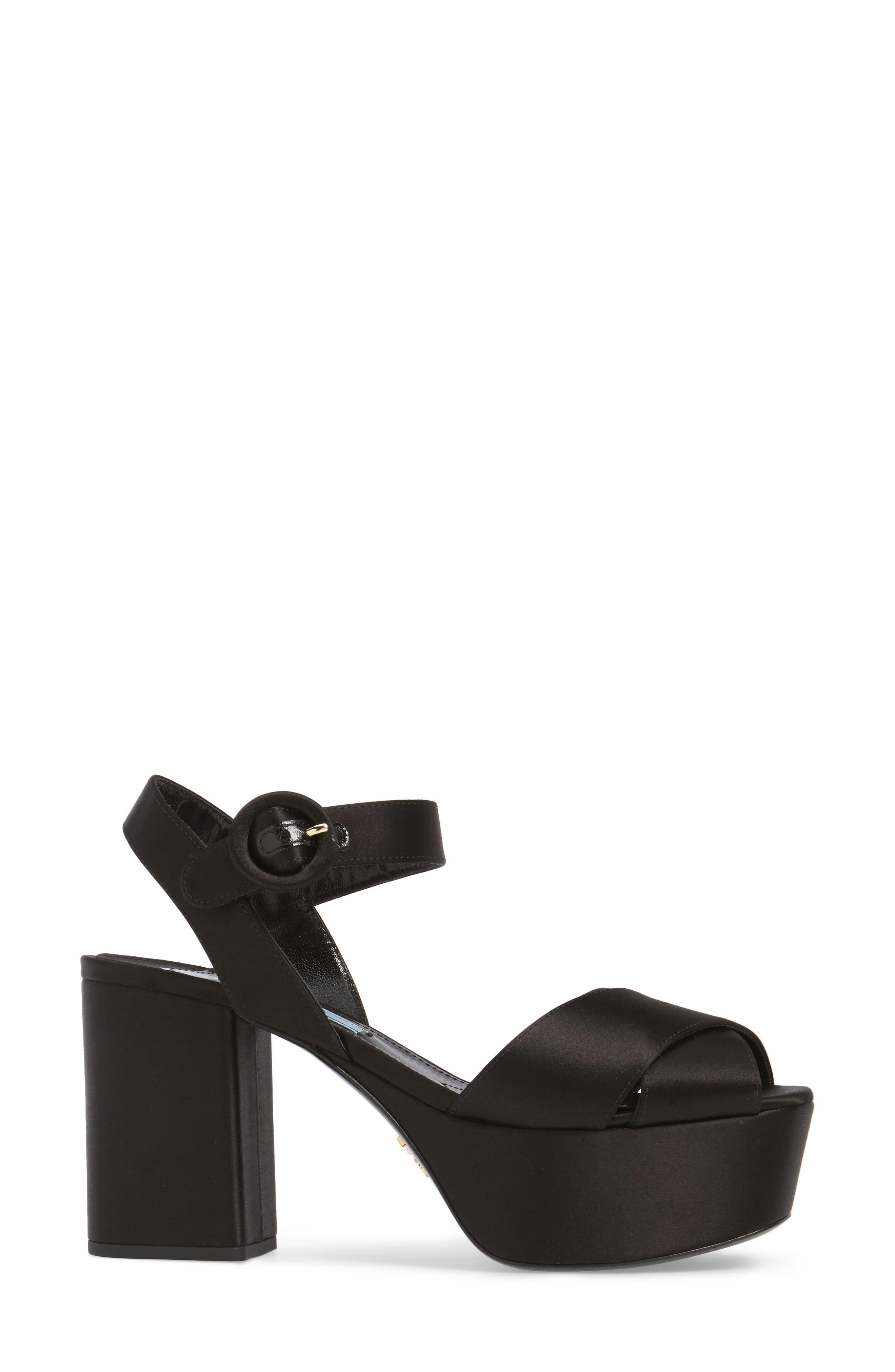 Block Heel Platform Sandal,                             Alternate thumbnail 3, color,                             002