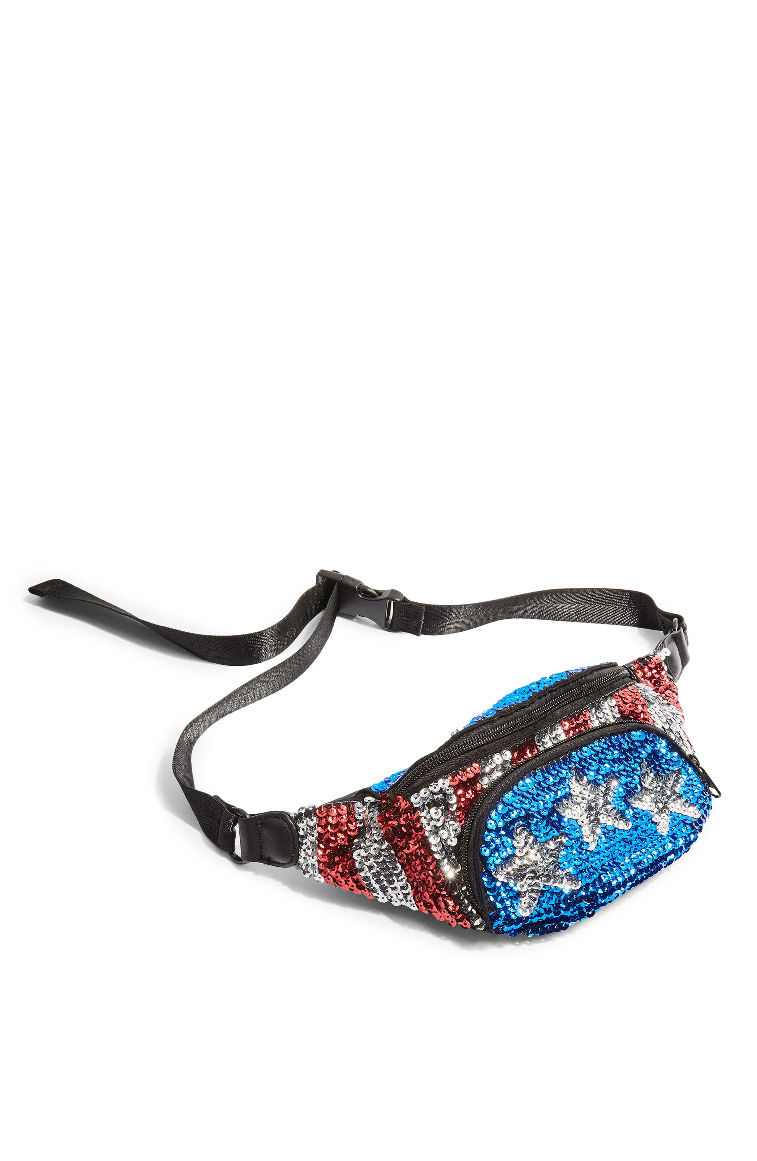 Florida Sequin Bum Bag,                             Alternate thumbnail 4, color,                             400