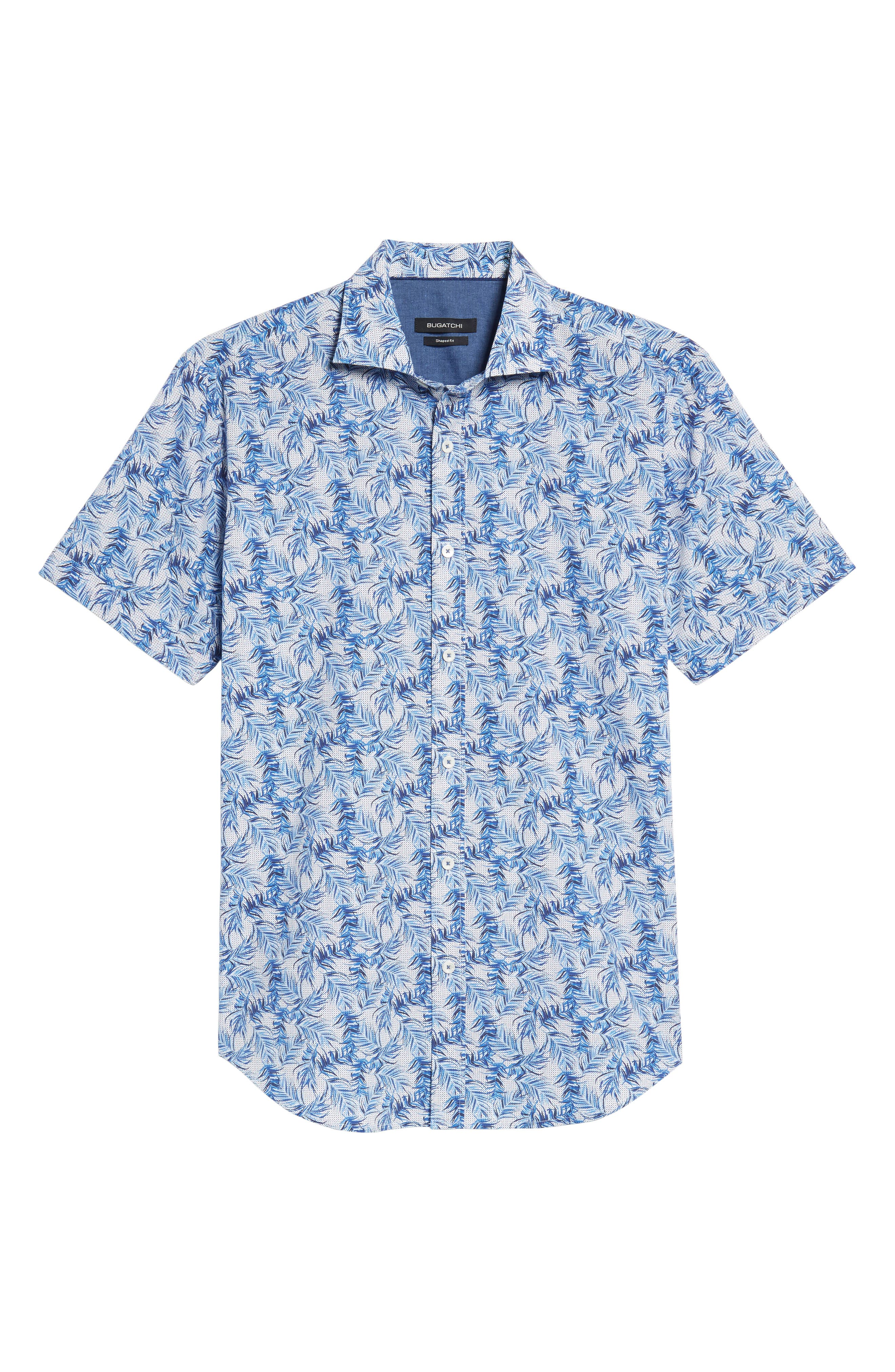 Shaped Fit Print Sport Shirt,                             Alternate thumbnail 6, color,                             411