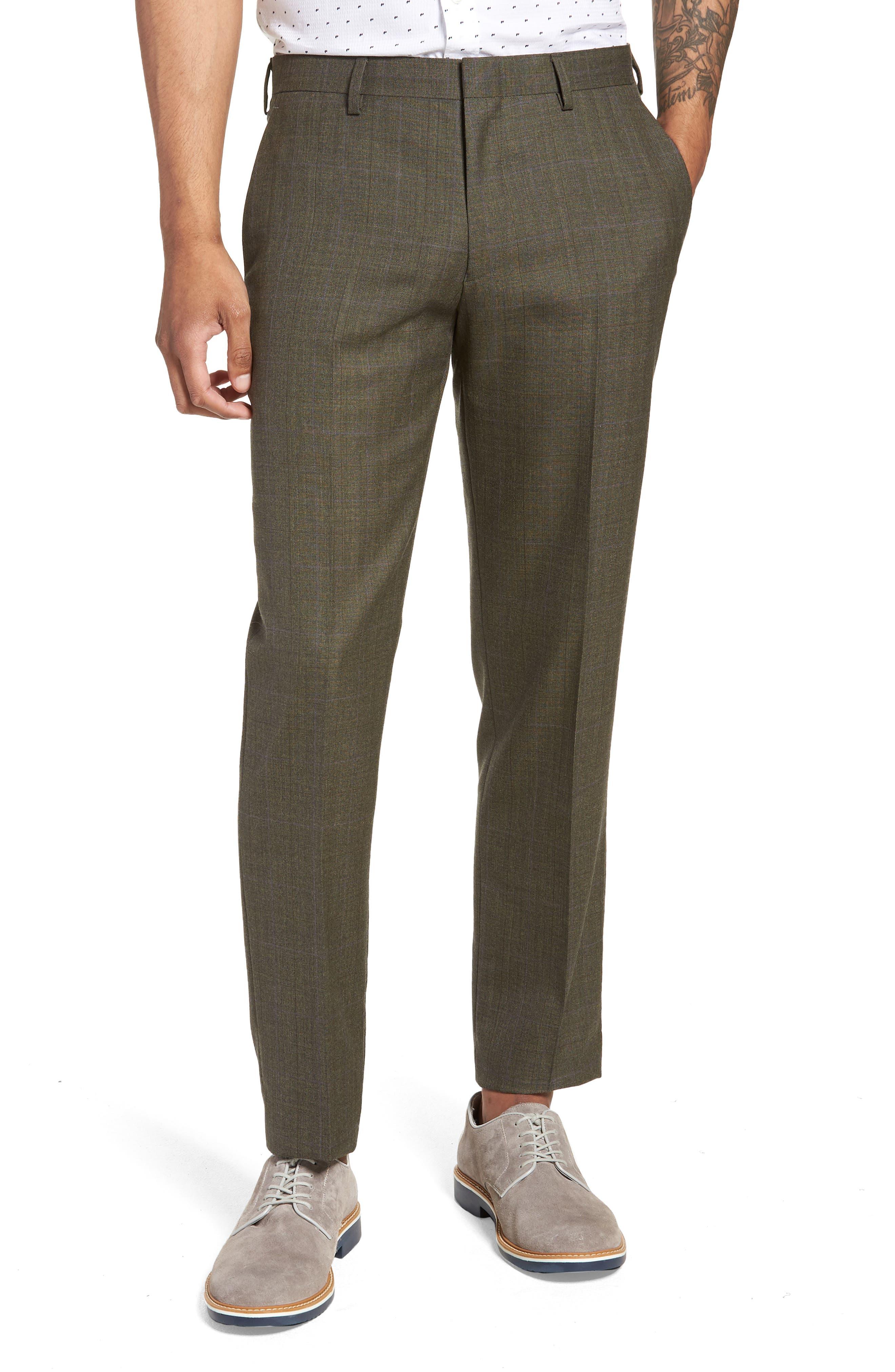 Ludlow Trim Fit Herringbone Wool Pants,                             Main thumbnail 1, color,                             300