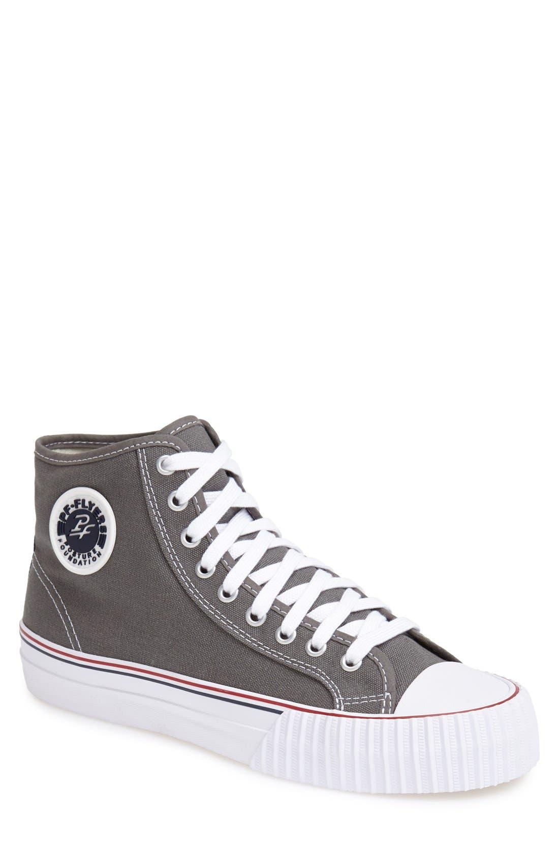 'Center Hi' Canvas Sneaker,                             Main thumbnail 1, color,                             030